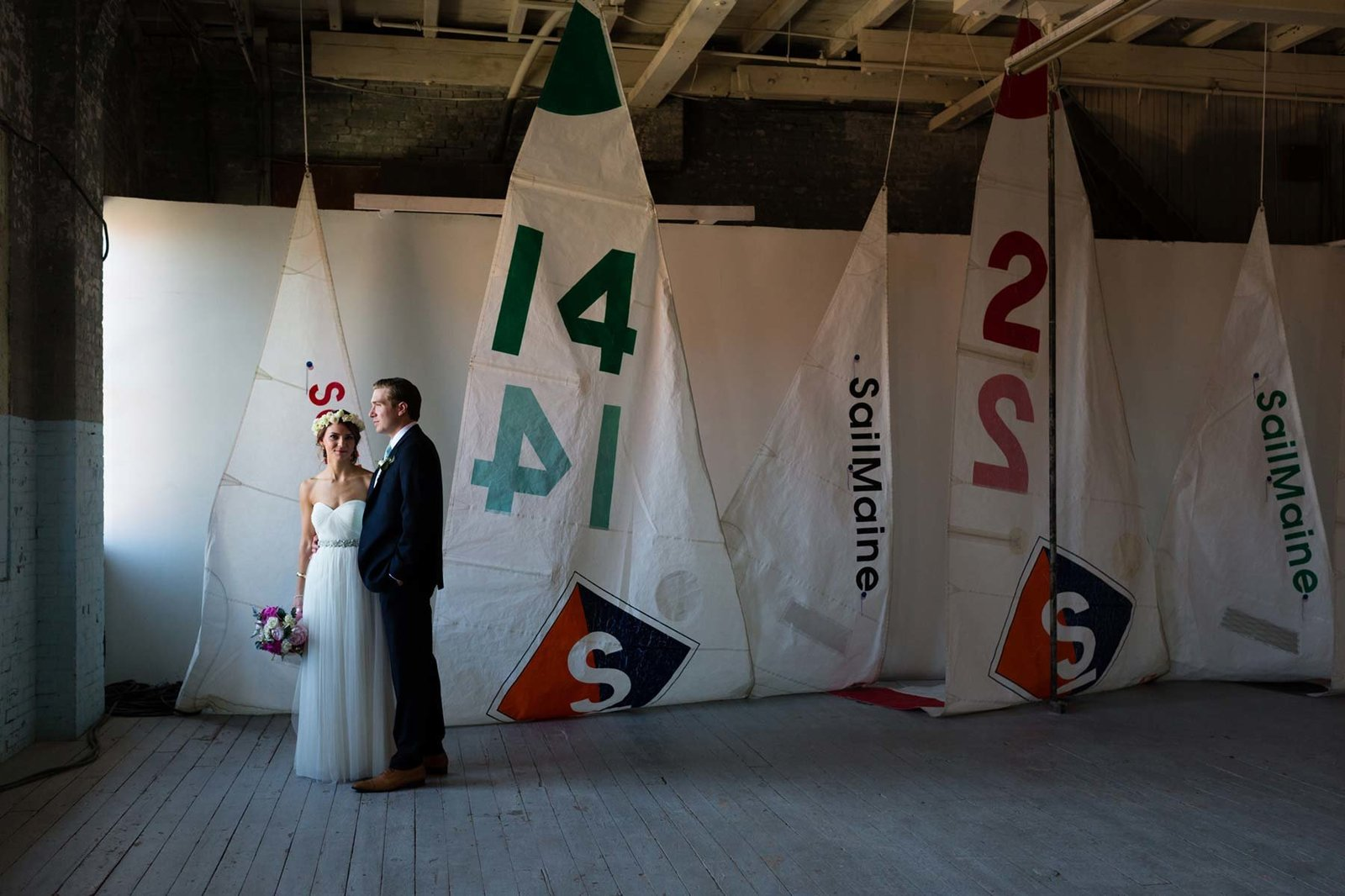 Portland Co Maine Wedding Sailboat Industrial