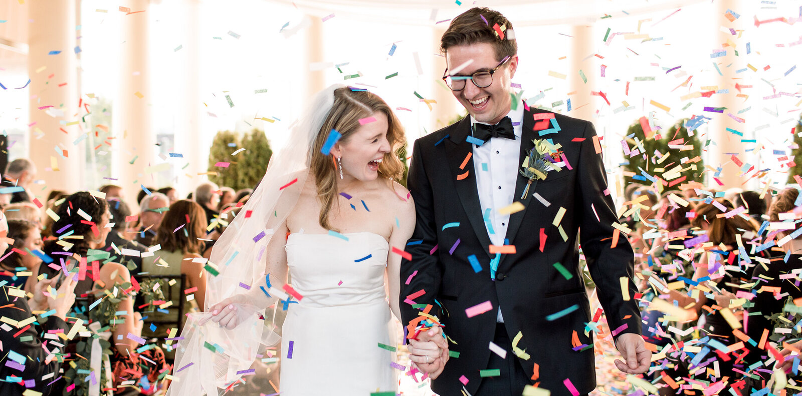 confetti recessional at Waterworks by Cescaphe