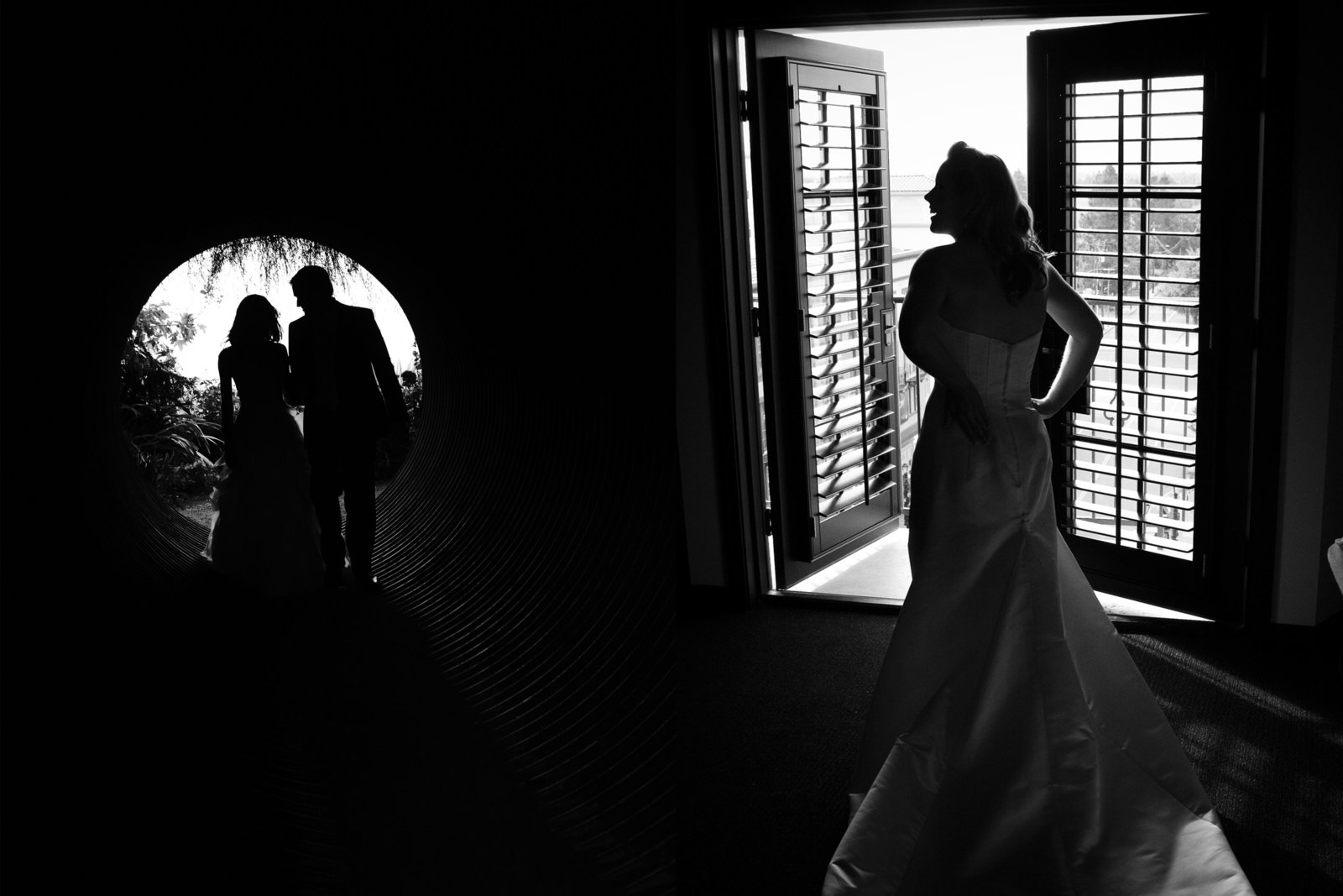 Cornerstone Wedding, bride and groom silhouette, bride silhouette, Jennifer Baciocco Photography