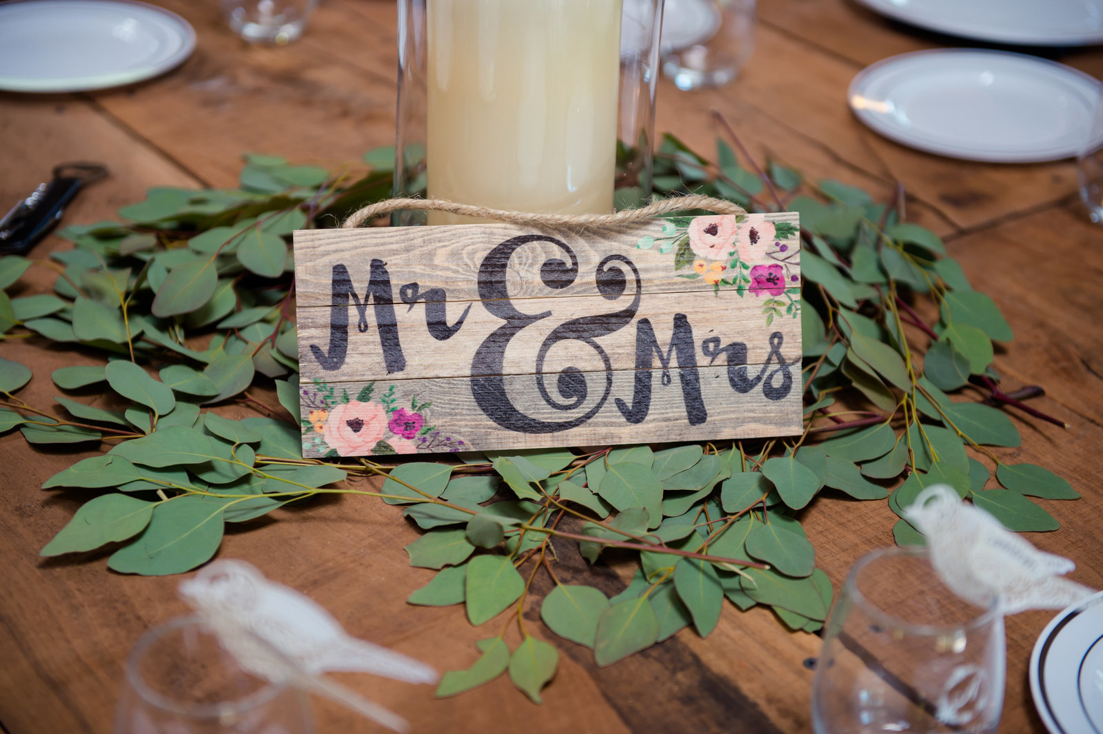 Centerpieces at Best Day Ever Ranch by Brittany Barclay Photography