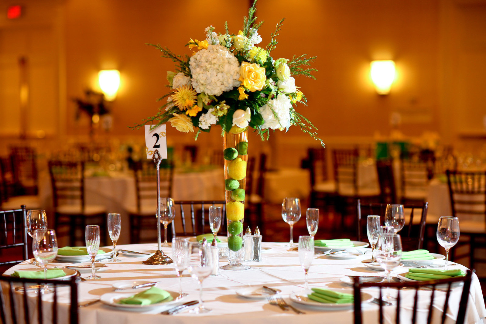 Lemons and Limes Wedding Centerpiece