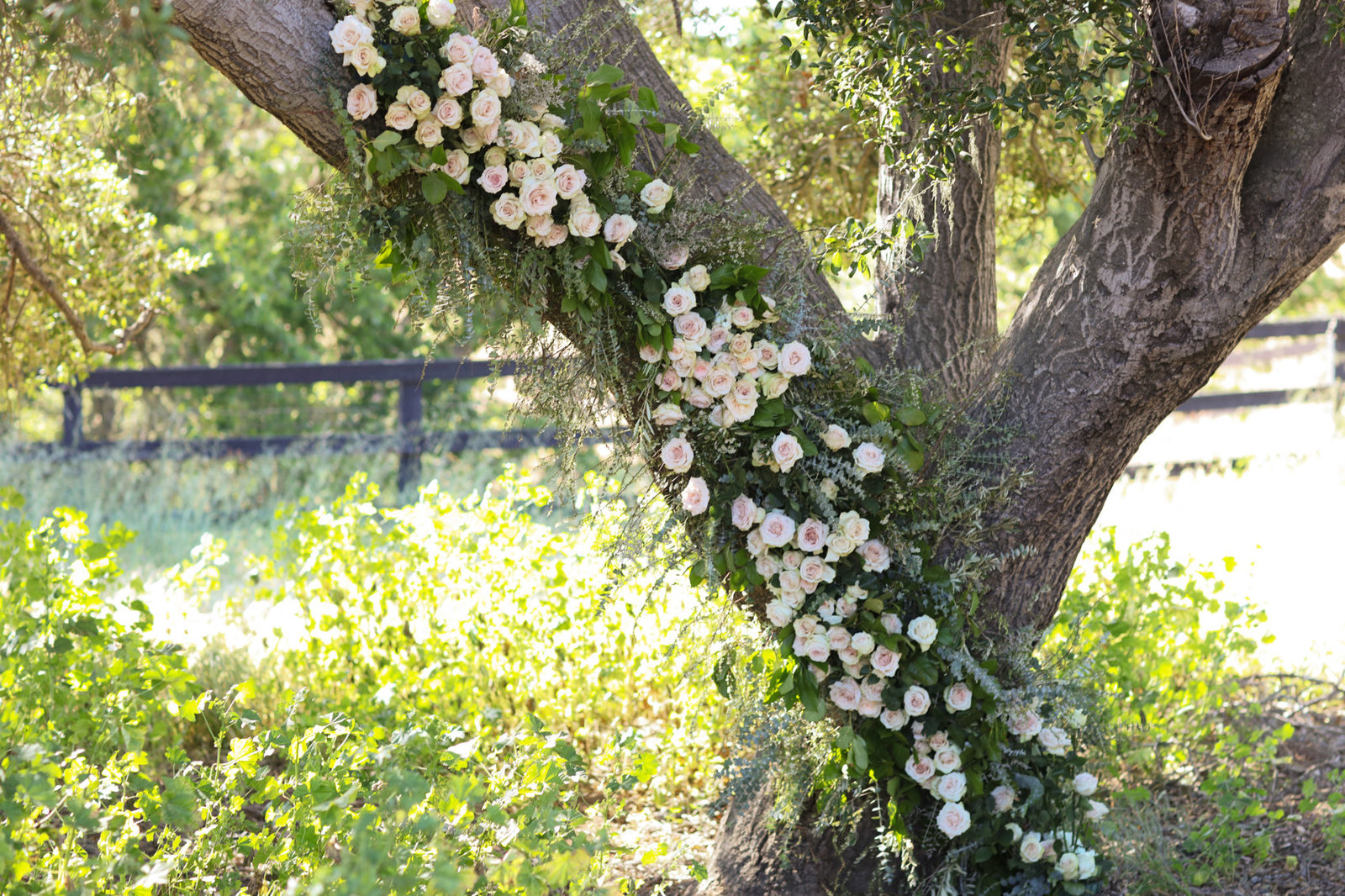 Northern california wedding has stunning floral decorations at venue