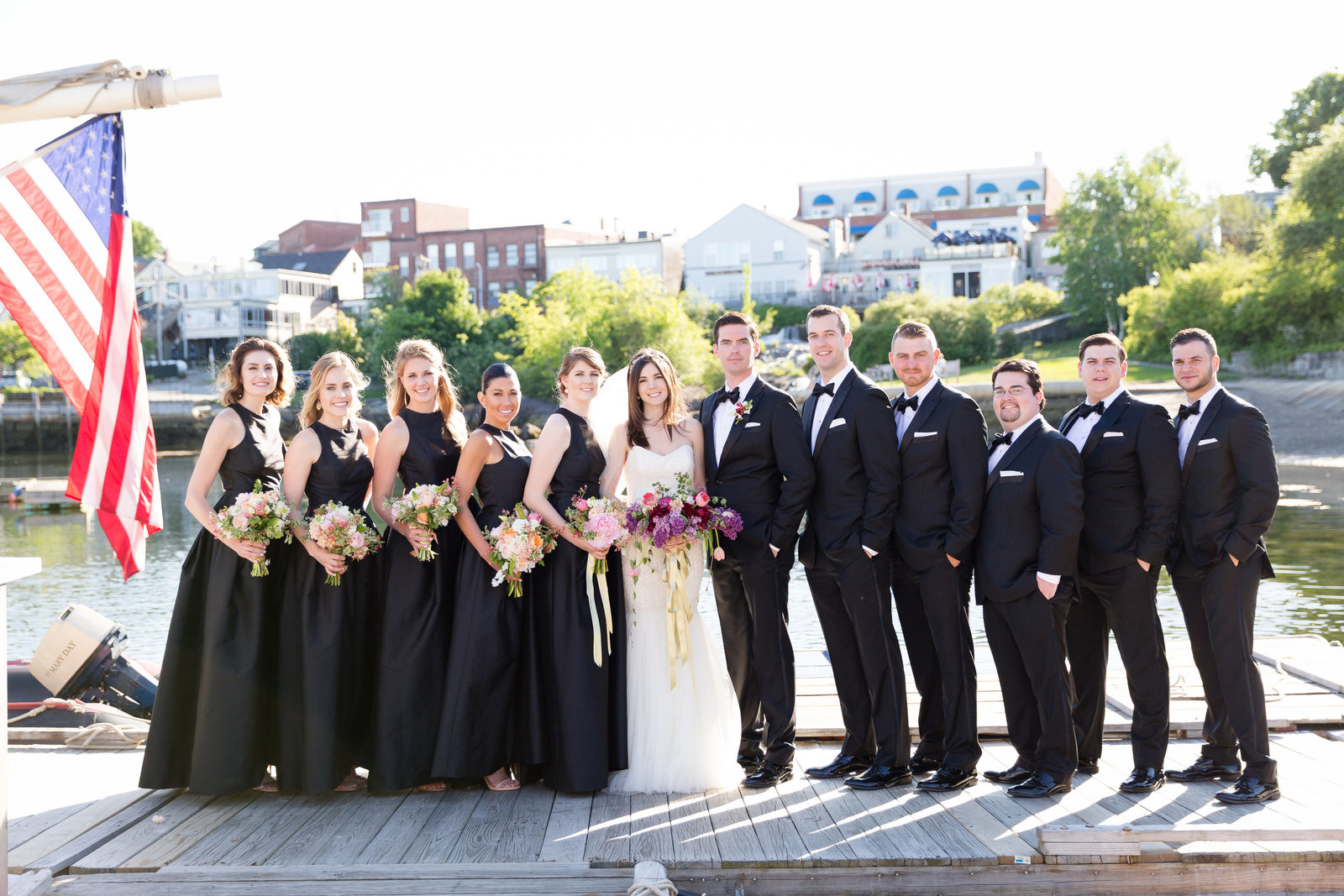 Coastal Maine Wedding Photo