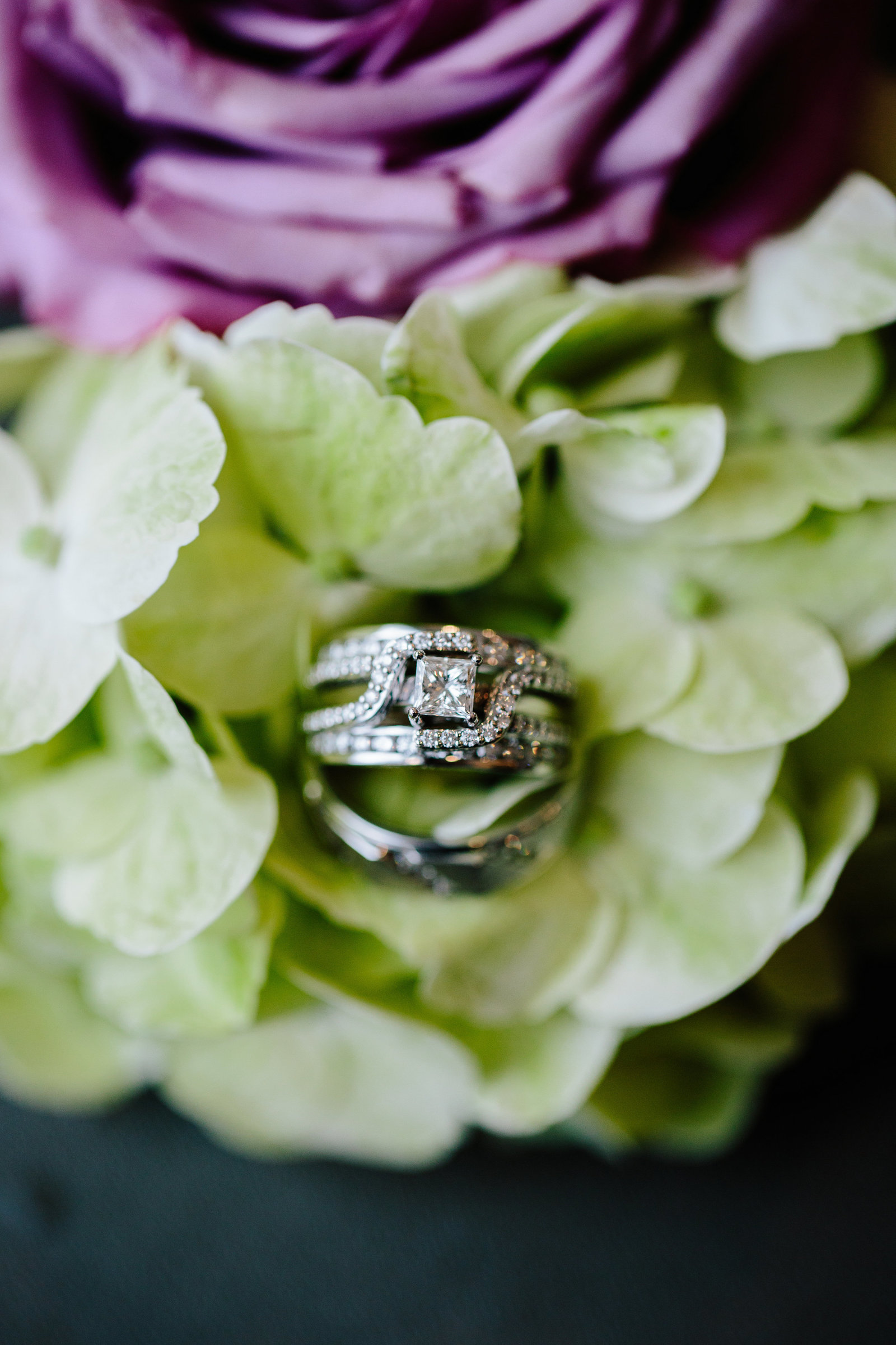 Pink and Green wedding in Ohio at the KSU Center for Performing Arts by Austin and Rachel Photography