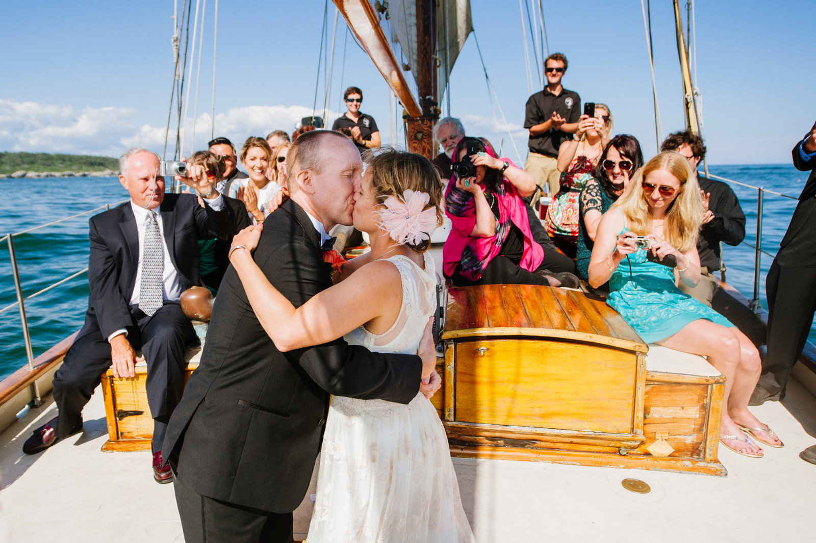 Sailboat Wedding Casco Bay