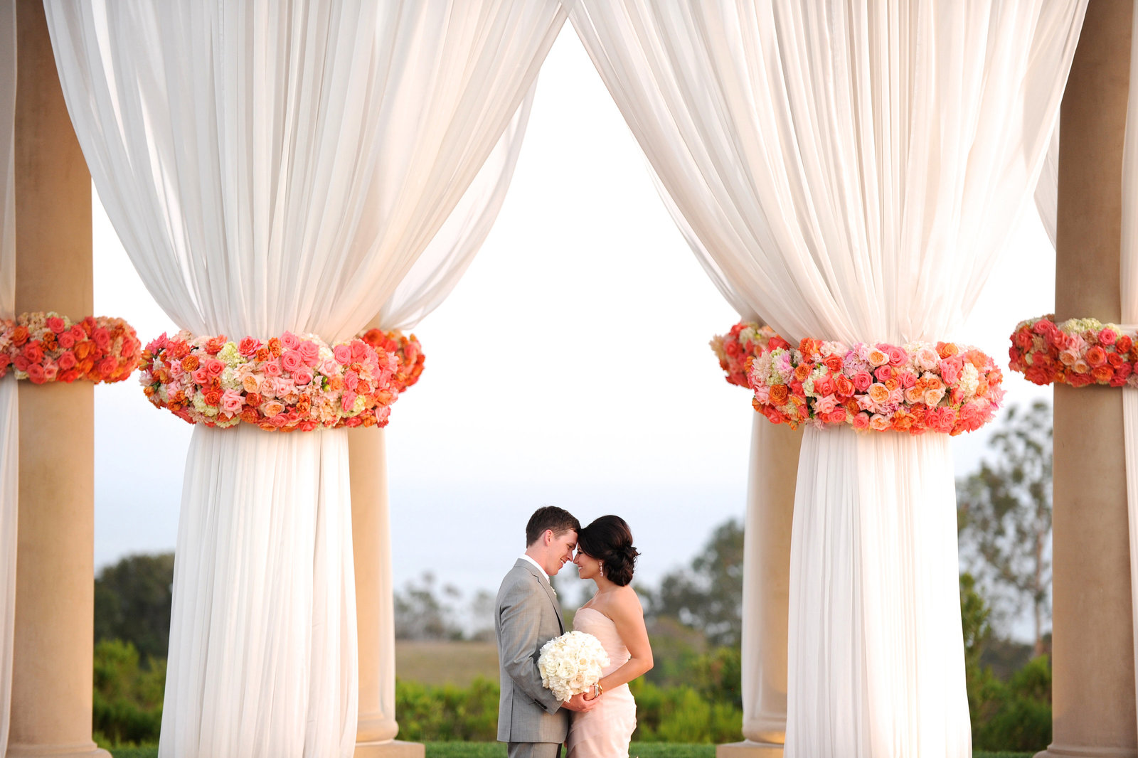 A beautiful wedding in Newport Coast at Pelican Hill Resort