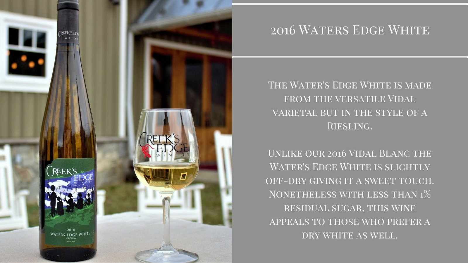 2016 Waters Edge White