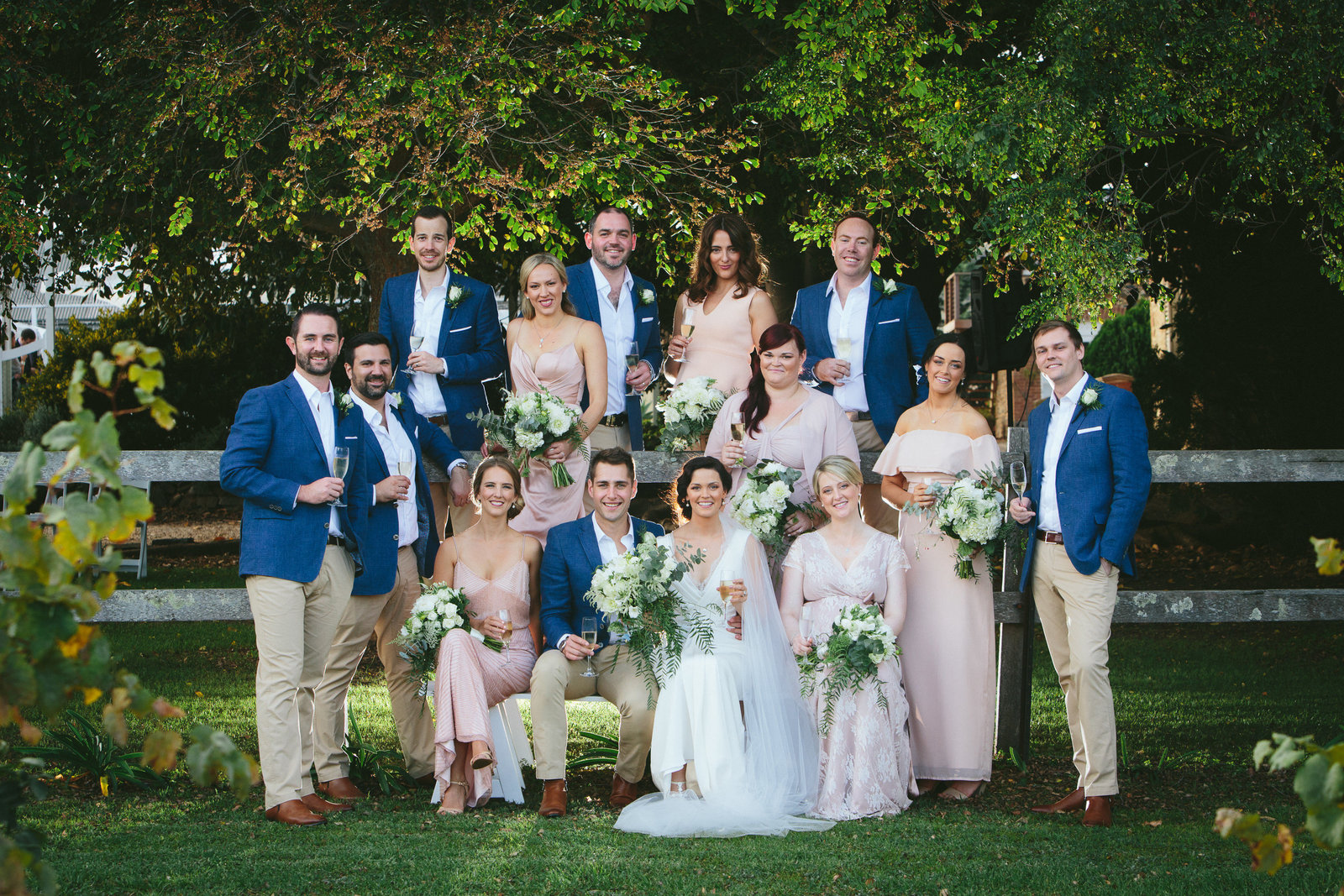 waverley estate wedding, big wedding party
