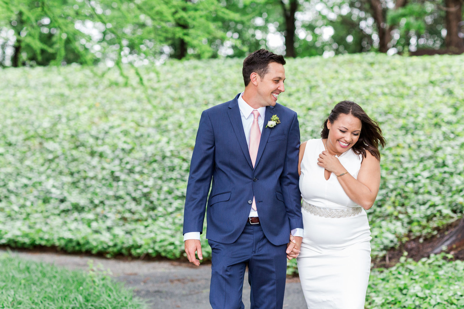 Jadah & Chris_Wedding Rockville Maryland_Intimate Wedding Ceremony_Rachel Word Photography_First Look-32