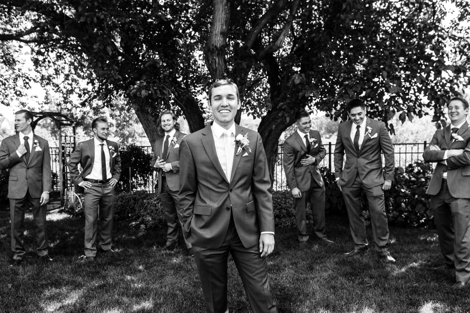 Groomsmen at Blumen Gardens