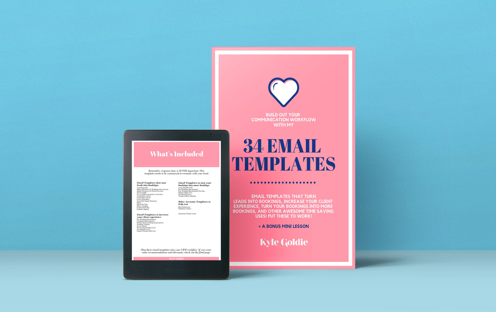 Wedding Business Email Templates Mockup Kyle Goldie 2