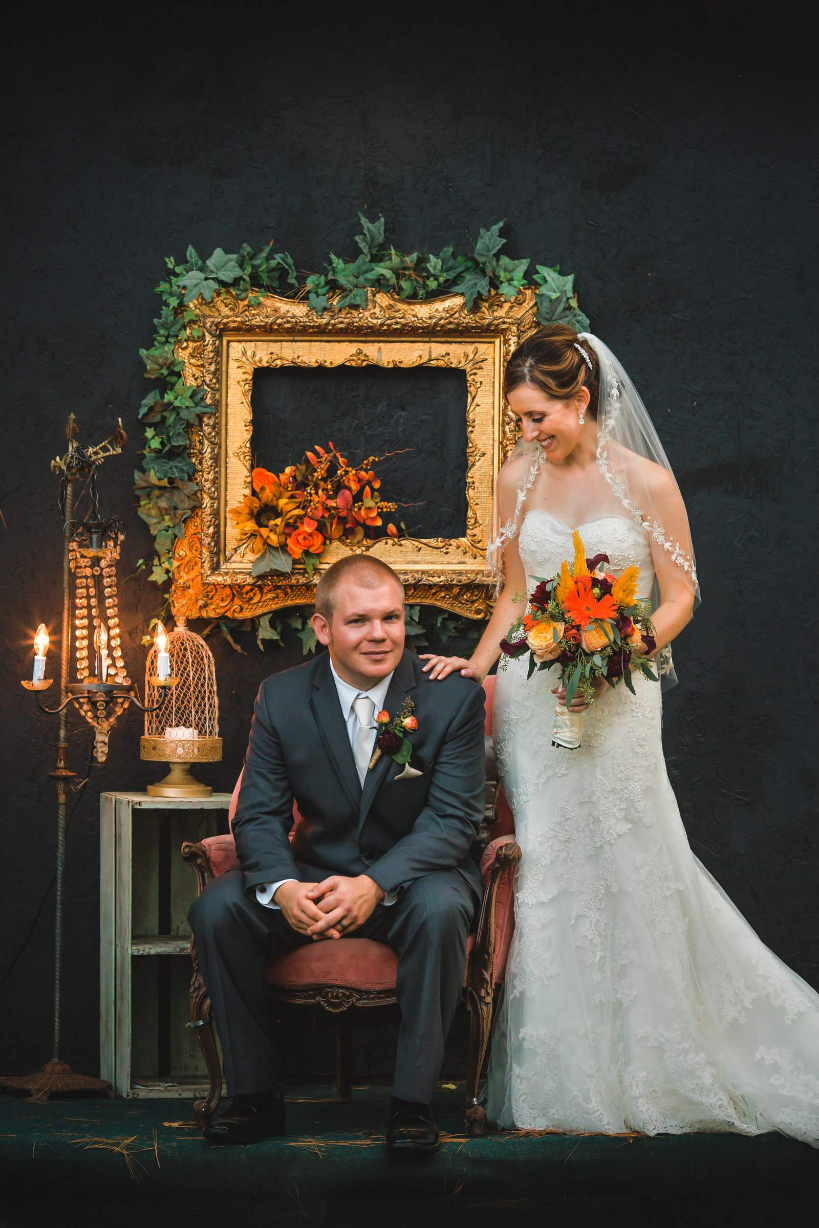 fall wedding portraits