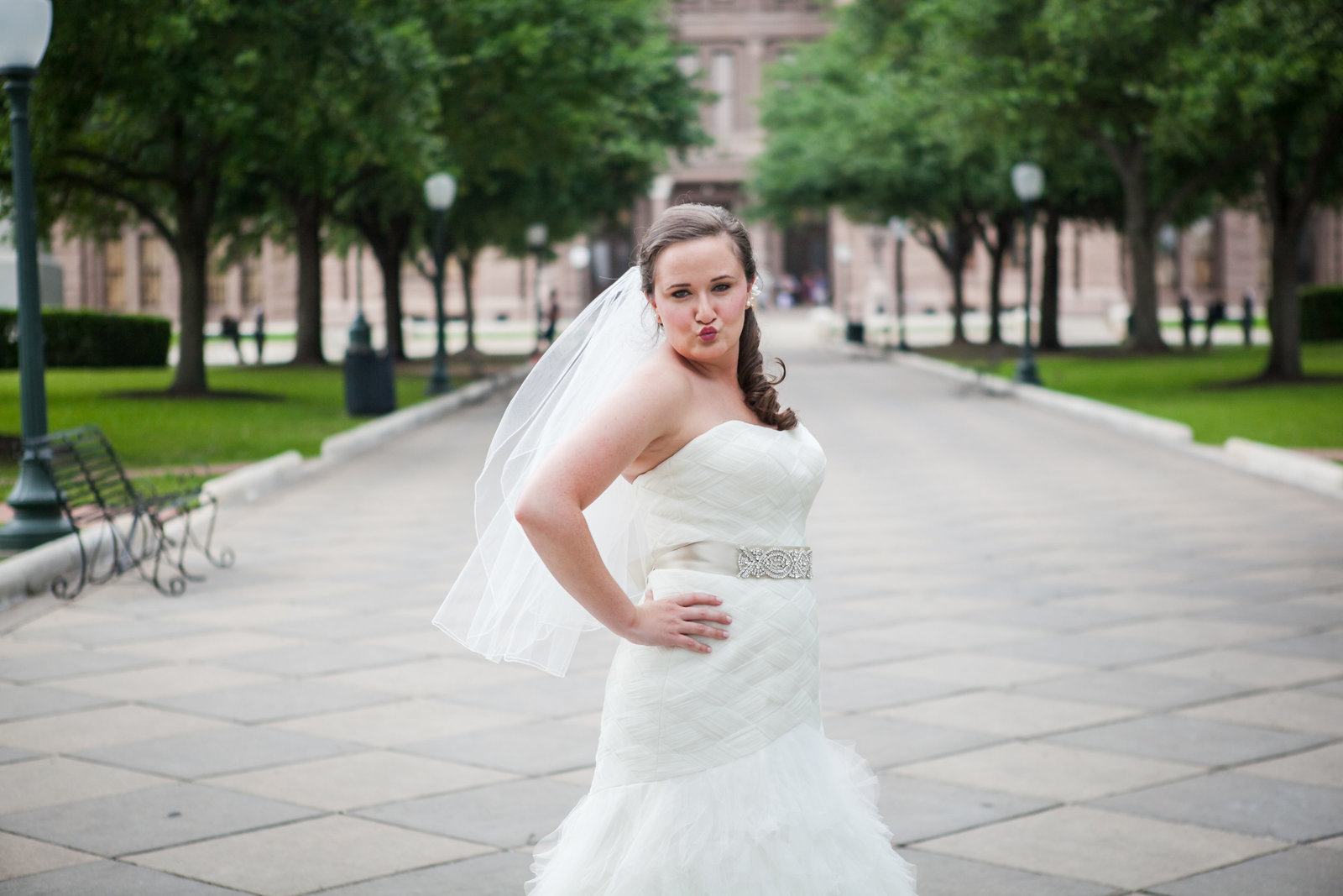 Austin Family Photographer, Tiffany Chapman, bride kissing face photo