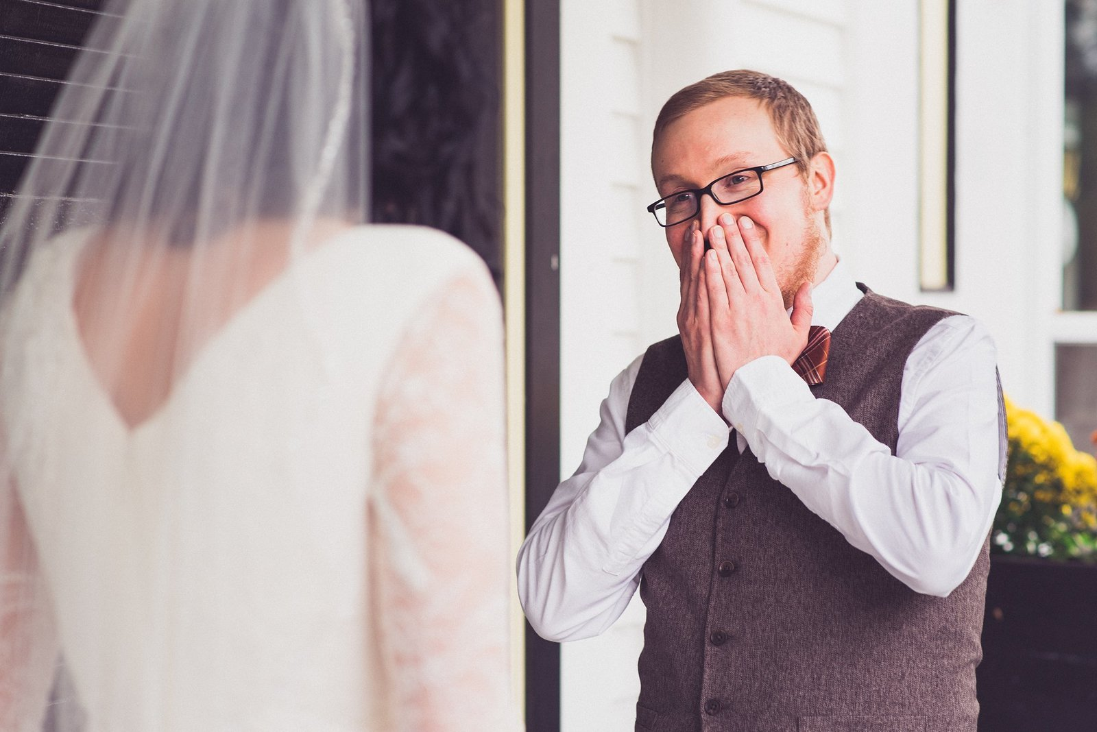 new hampshire wedding emotional first look