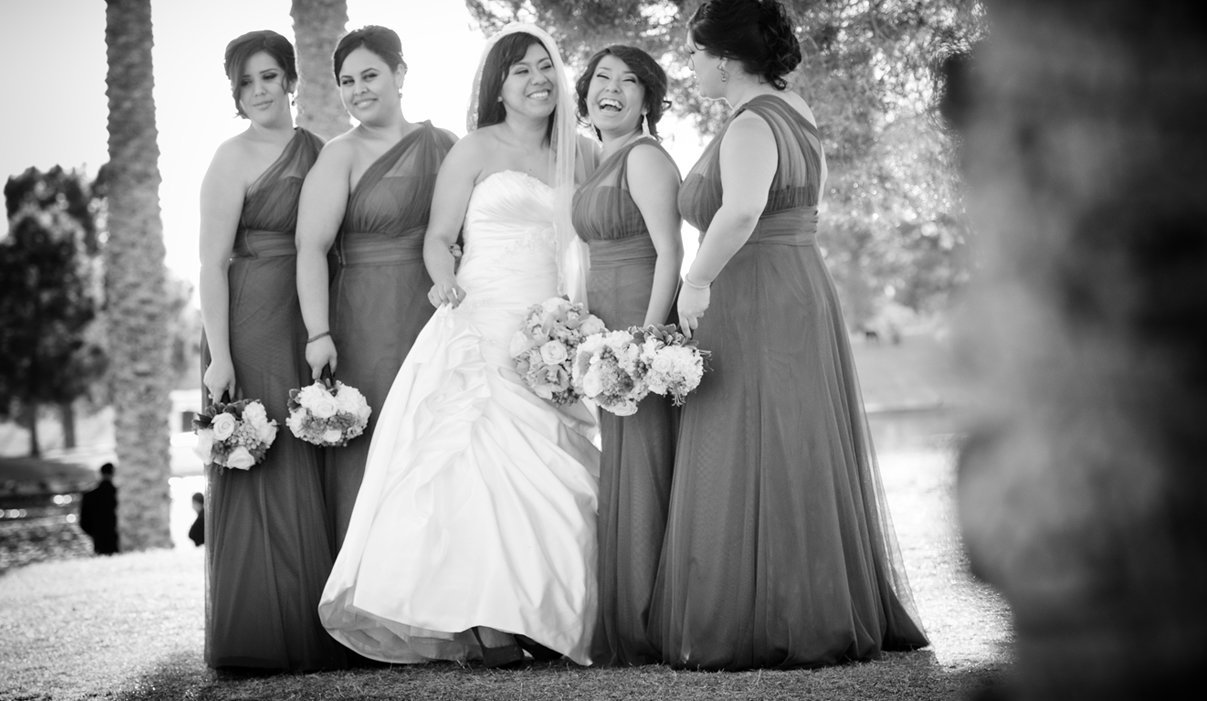 Wedding Bride maids at Villa Tuscana