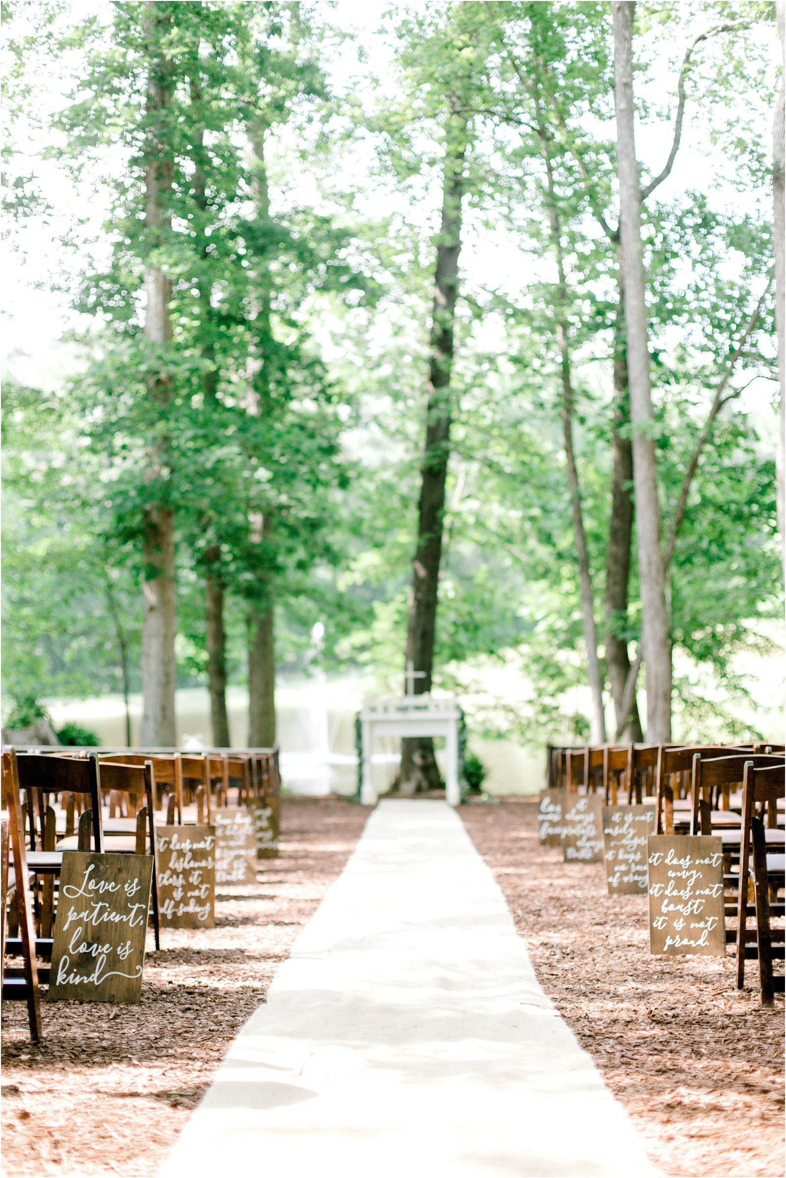 Chapel in the Woods Rustic Country Vintage Wedding Raleigh NC Plume Events Andrew & Tianna Photography-6