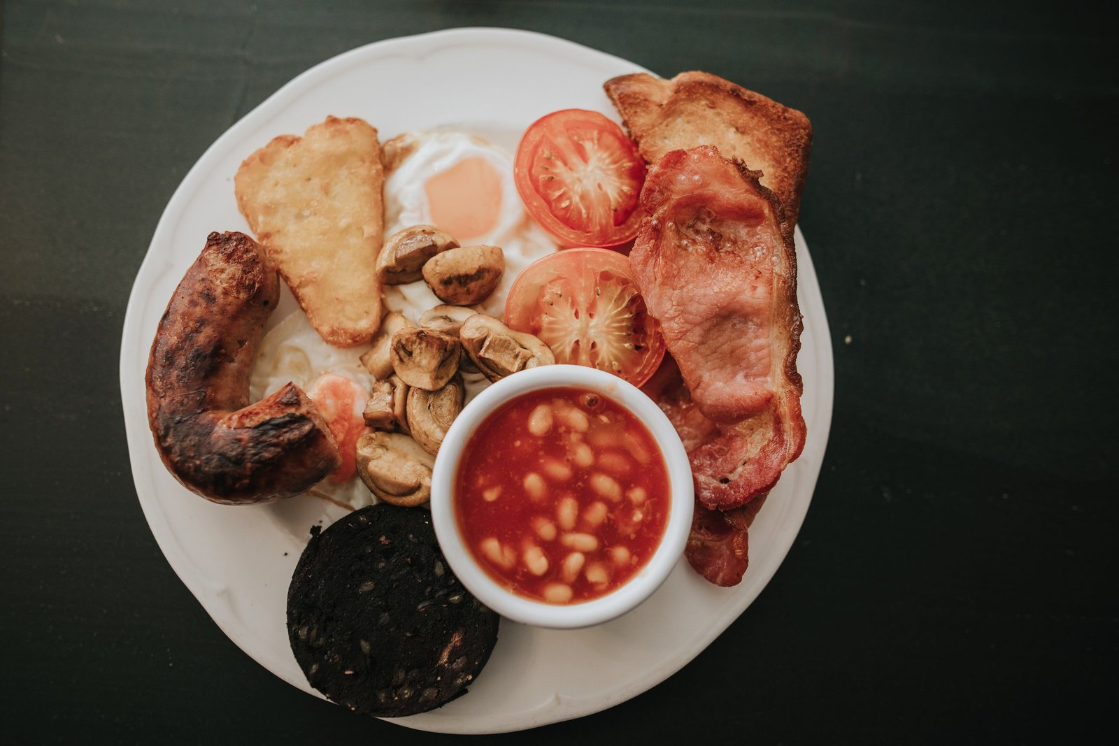 Traditional Full English Cooked Breakfast available at Baldry's Tearoom in Grasmere Village, The Lake District