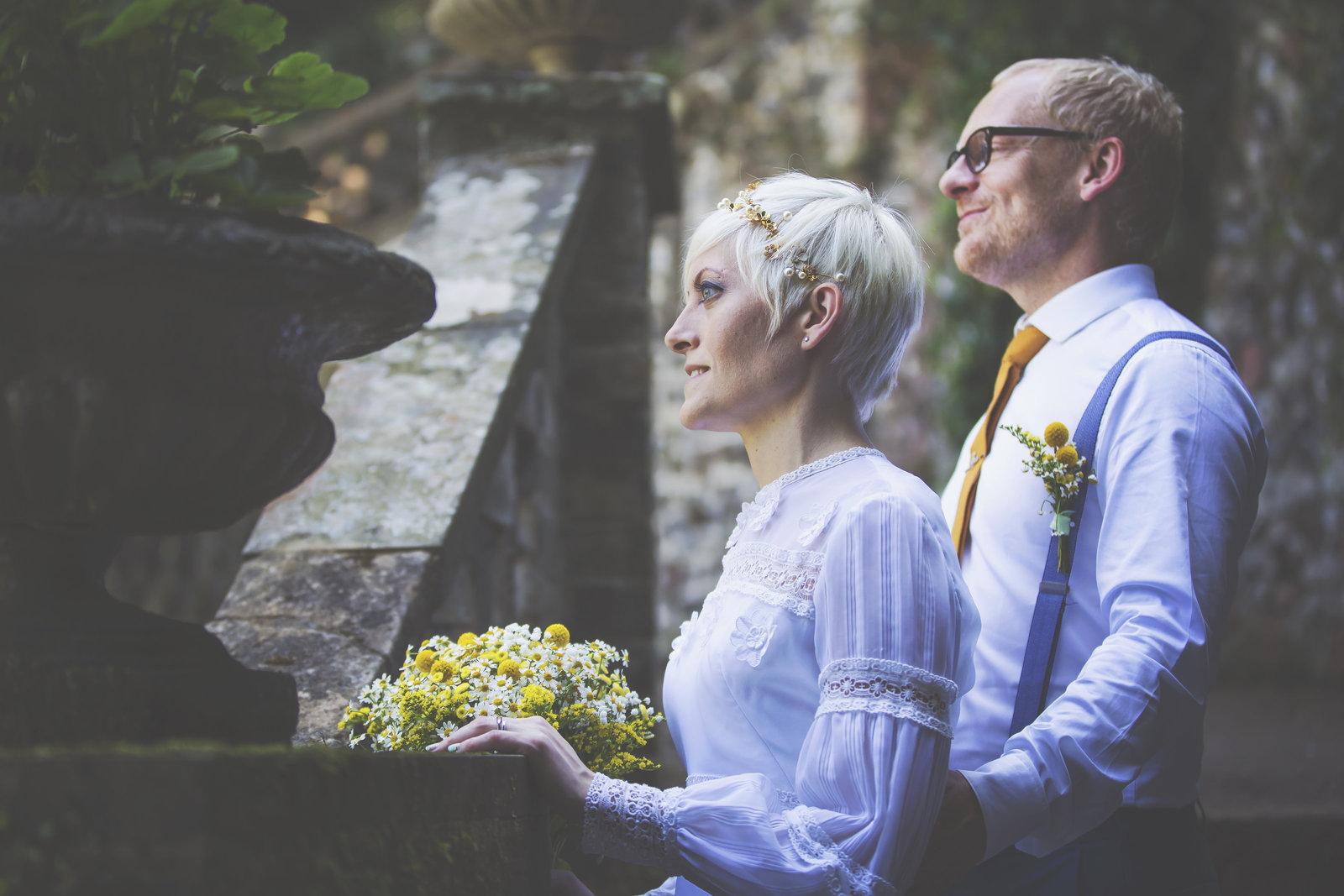Wedding portrait at plantation garden Norwich