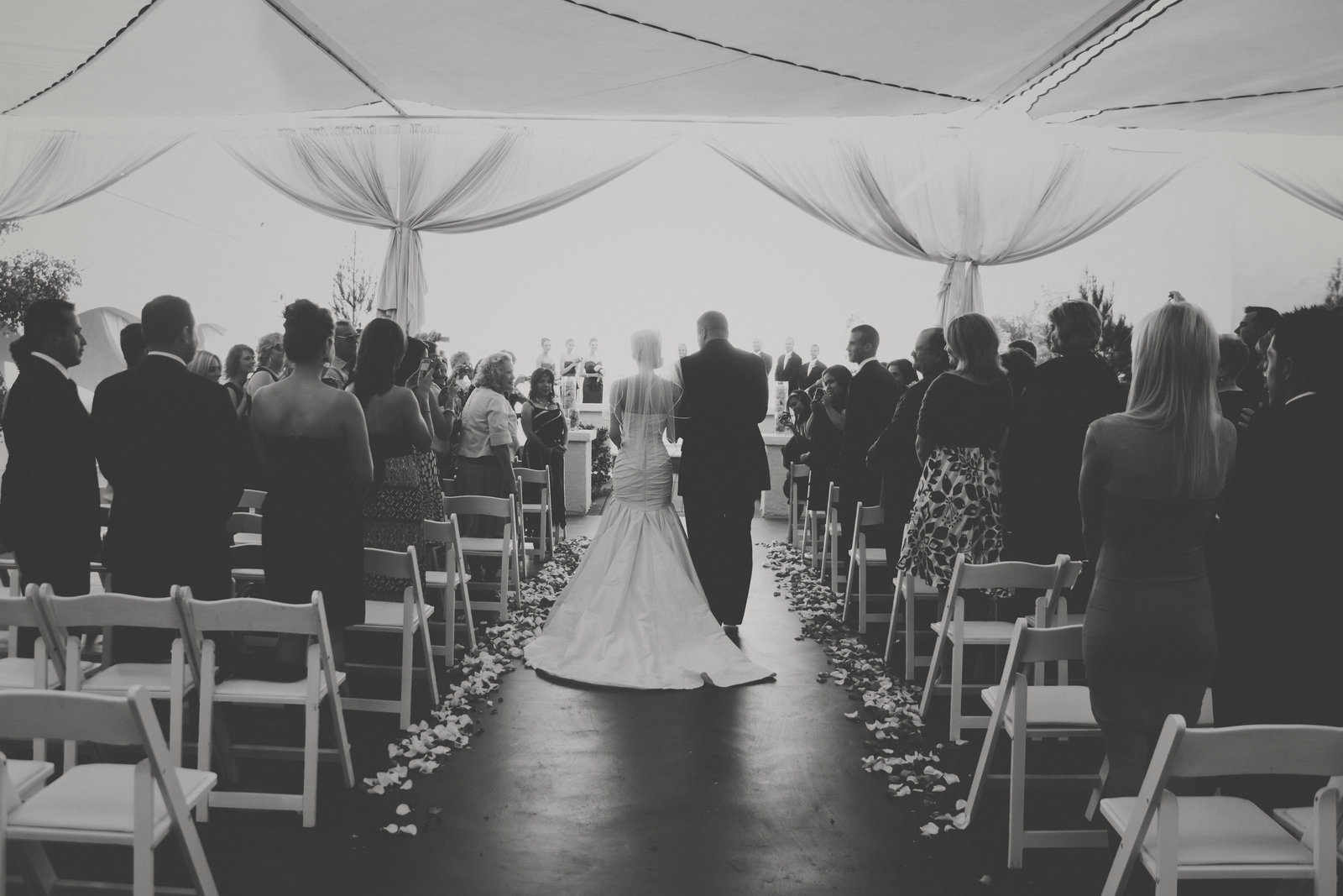 Wedding photo of bride and father walking down the aisle | Susie Moreno Photography