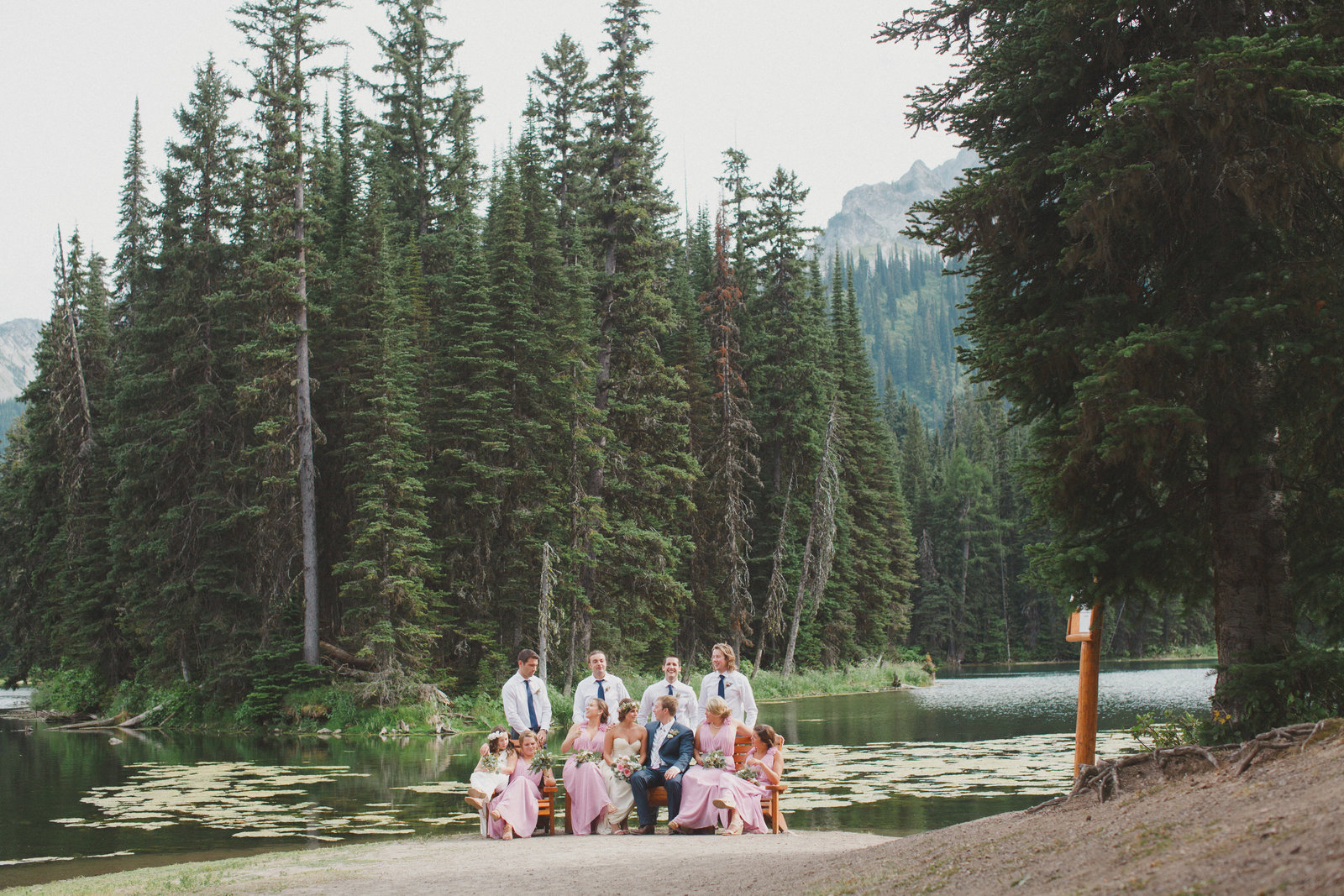 Island Lake Lodge Wedding, Fernie, BC Weddin Photographer