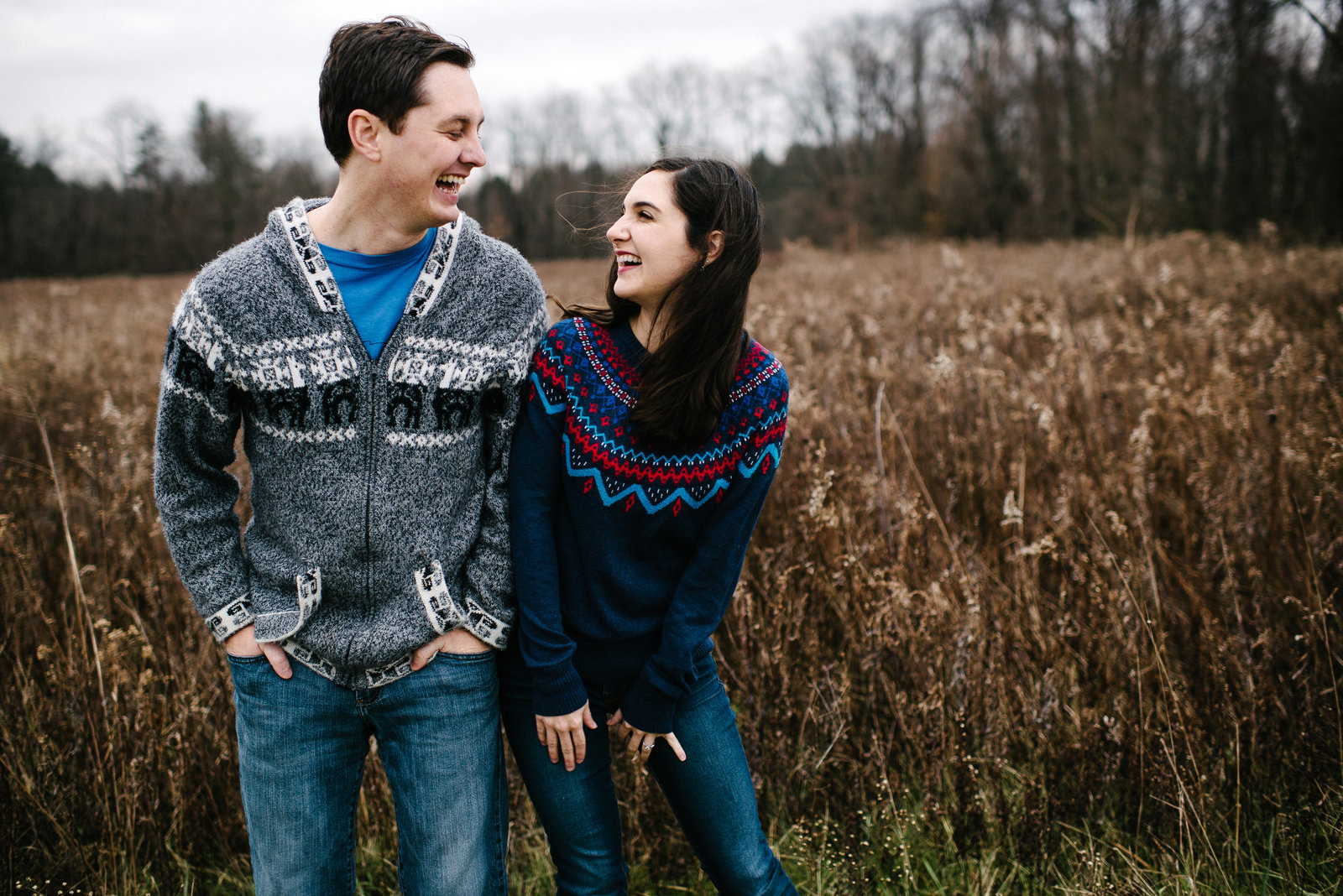 Columbiana OH outdoor winter engagement session