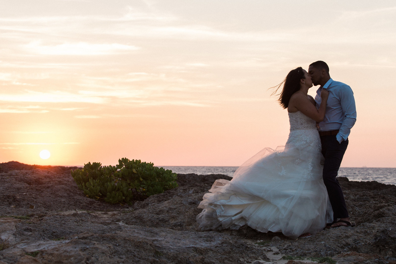 Destination Wedding Photographer Jess Collins Photography  at Jamaica Wedding Venue the Grand Palladium Lady Hamilton in Montego Bay at Palladium Hotel Wedding bride and groom at sunset in jamaica