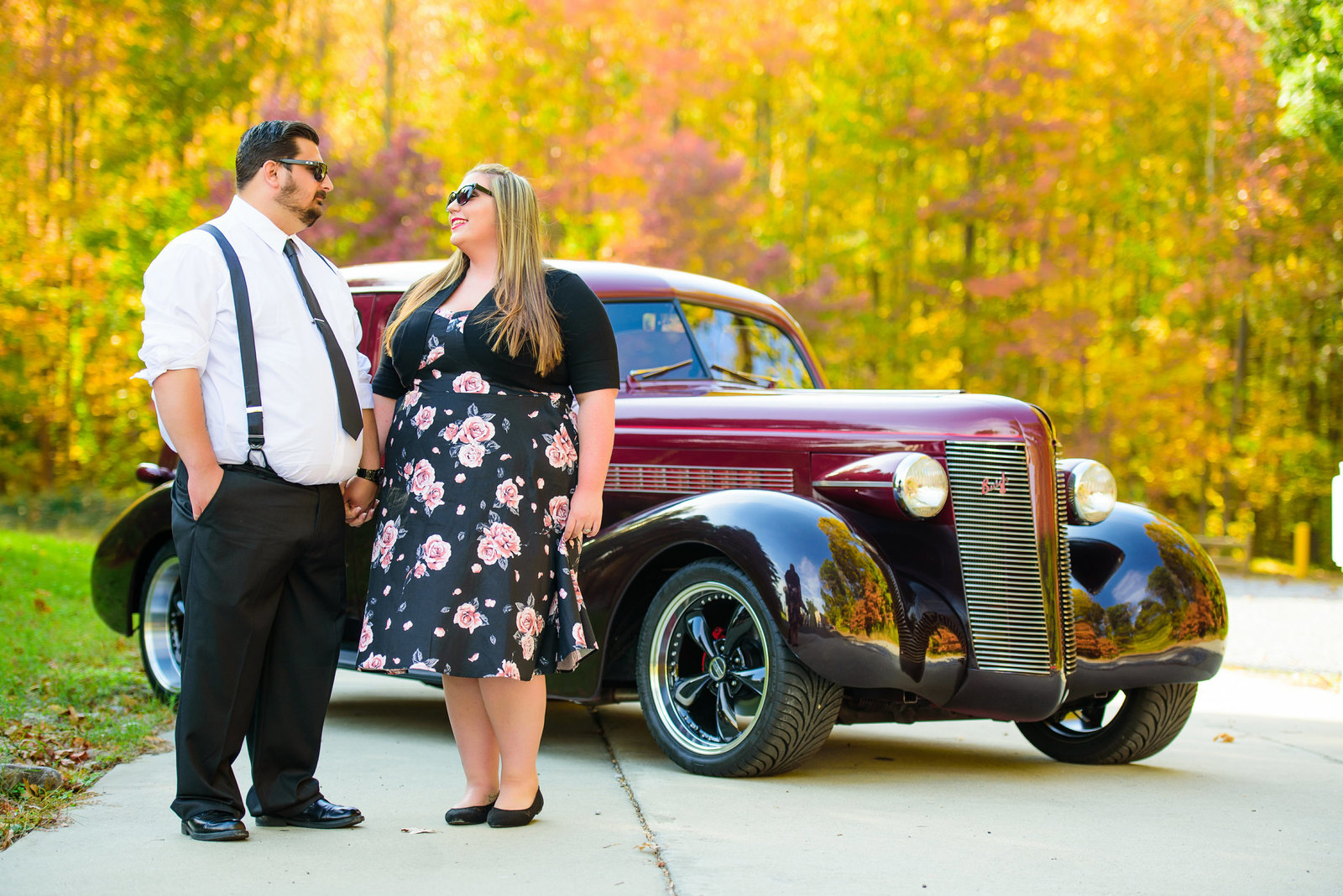 Retro_Pinup_Car_engagement_session_Nj021