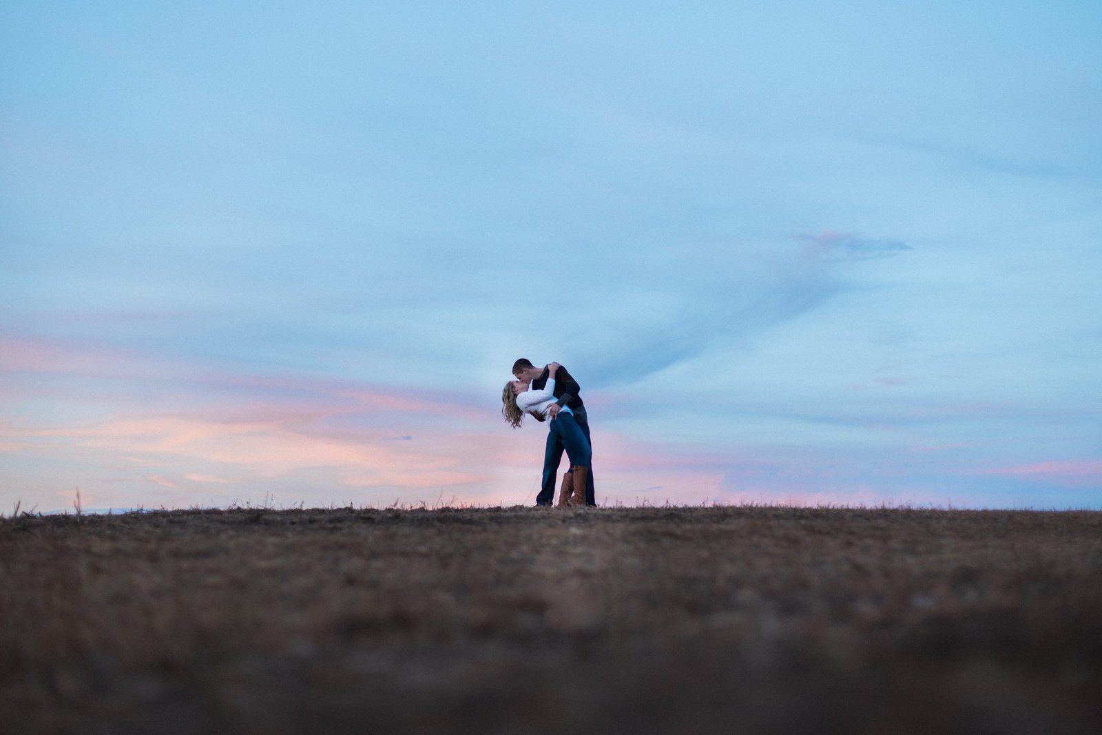 Destination Wedding Photographer Jess Collins Photography does a sunset engagement session in Kitchener at Shantz Family Farm