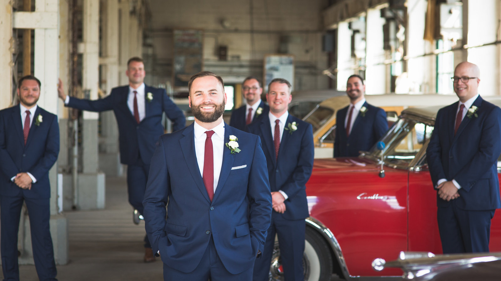 Industrial Car Themed Wedding at the Packard Proving Grounds in Detroit Michigan. Destination Wedding. Photo By: Adore Wedding Photography