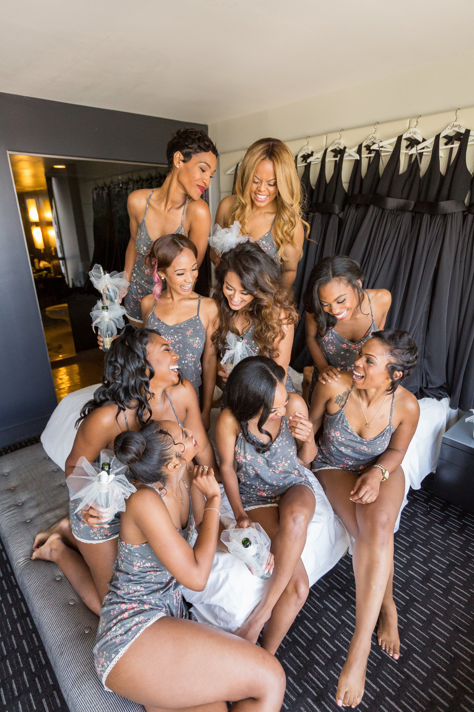 W Atlanta Midtown wedding - Mecca Gamble Photography - bridemaids photo ideas