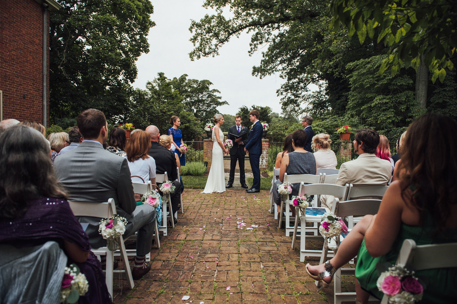 wedding ceremony outside brantwyn estates