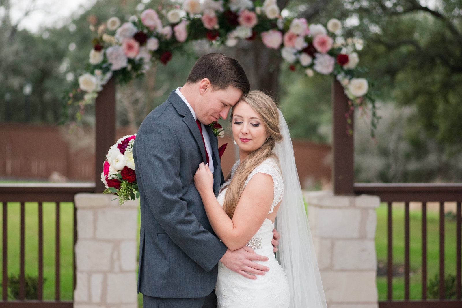 The Springs in Georgetown, Texas wedding in cranberry