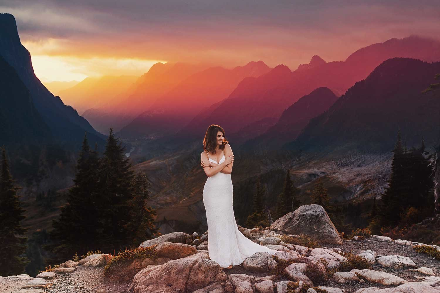 epic mountain wedding by luma weddings