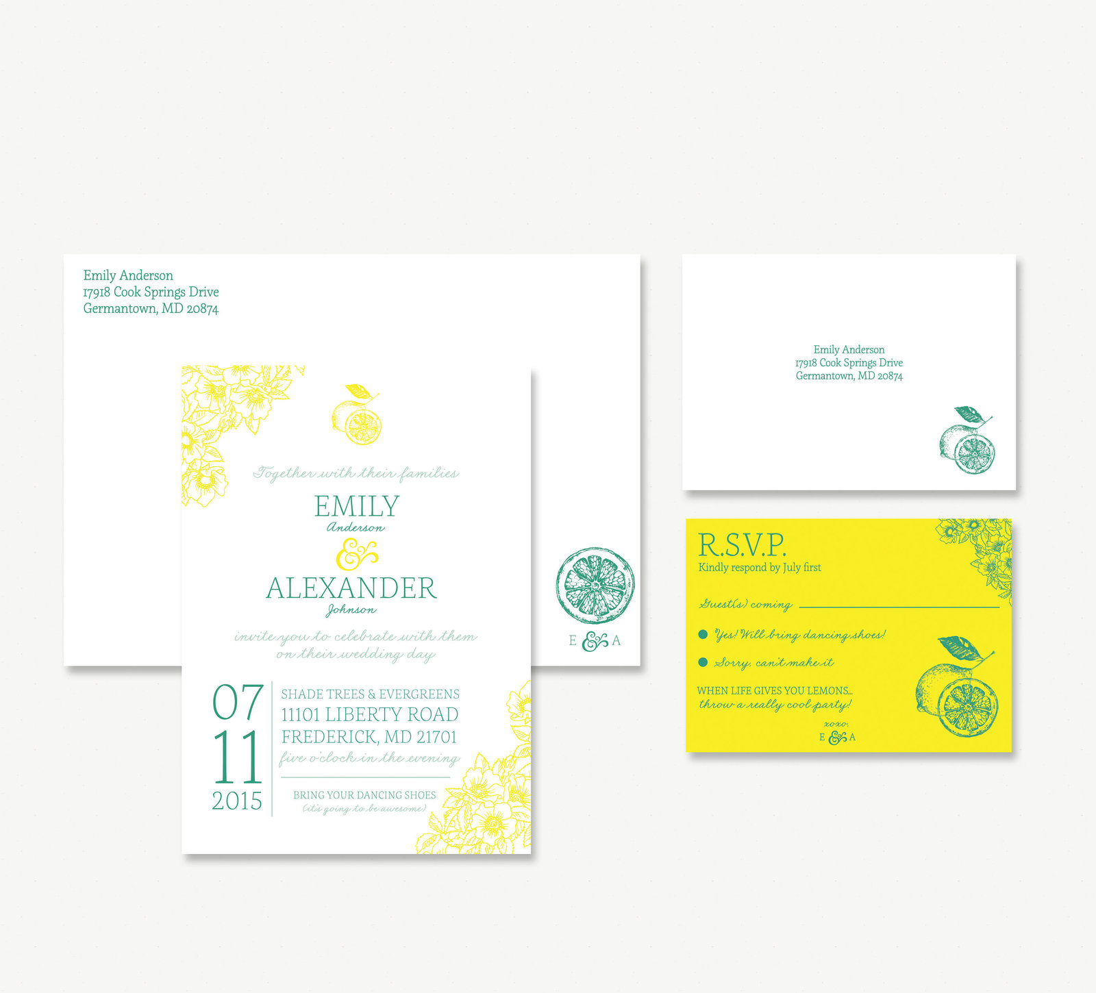 wedding-branding-custom-invitation-yellow-green-summer-emily-alex