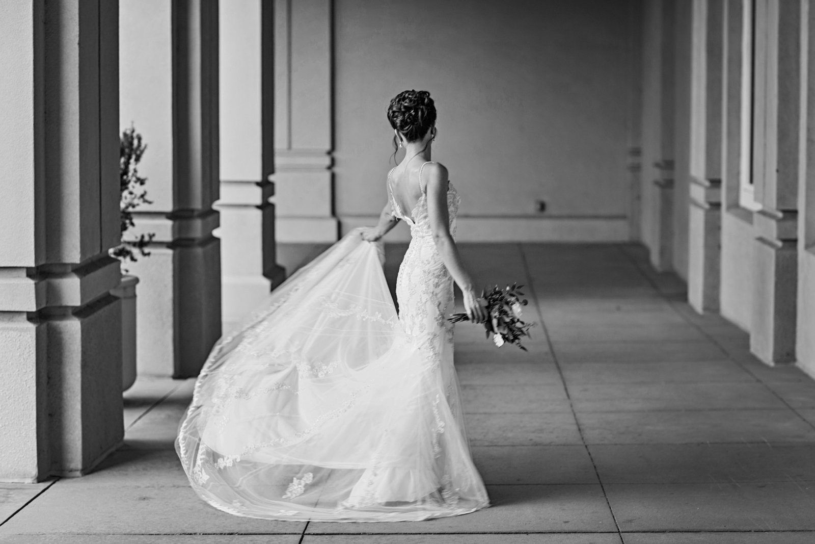 candid bridal portrait