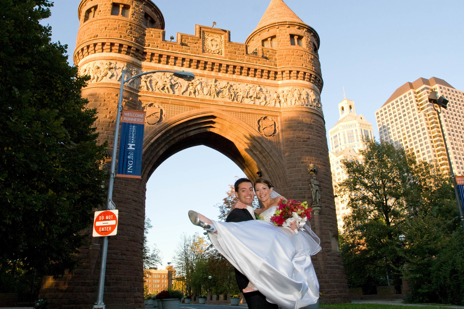 bride and groom in hartford