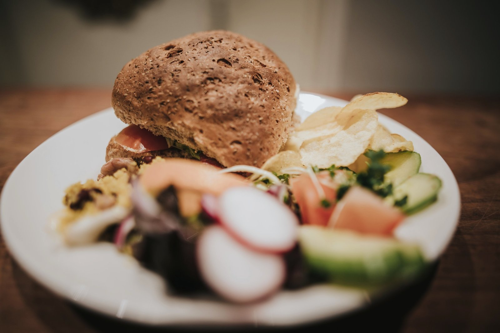 Sandwidge & Salad served at Baldry's Tearoom in Grasmere Village, The Lake District