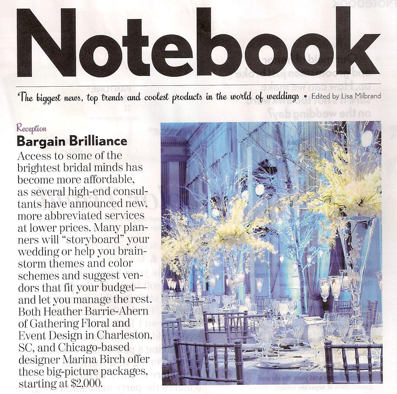 29 - Modern Bride Notebook - Article