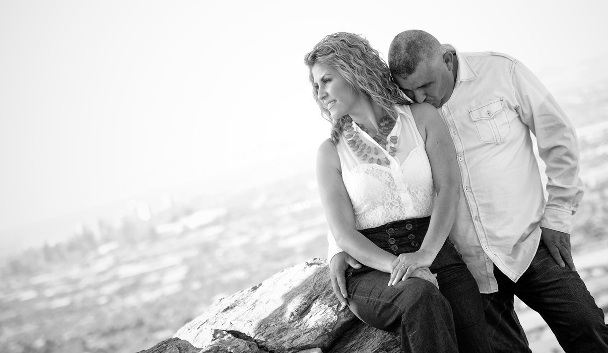 Engagement Session Sky kiss