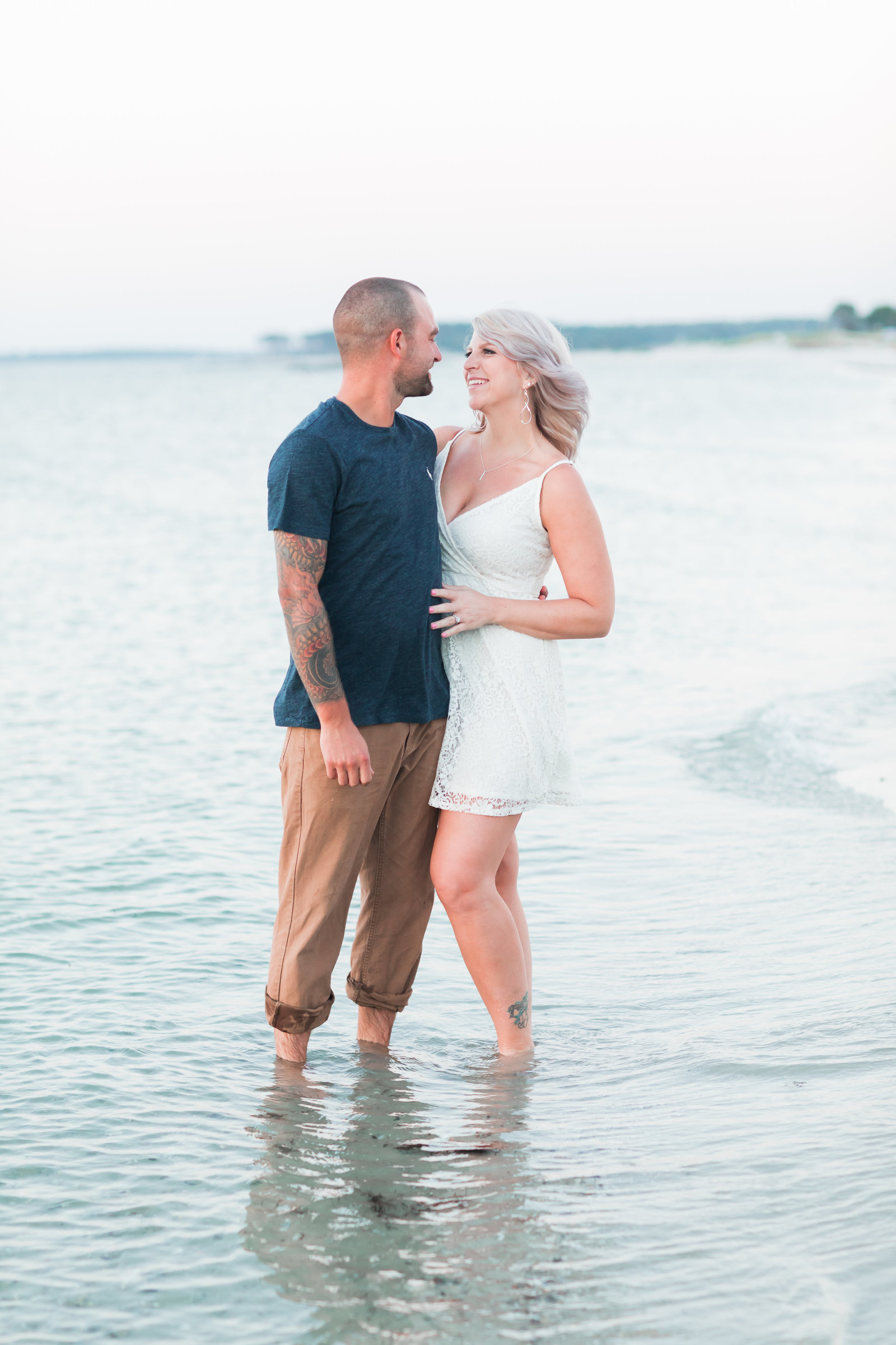 Cape Charles Sunset Engagement Session by Elizabeth Friske Photography-16
