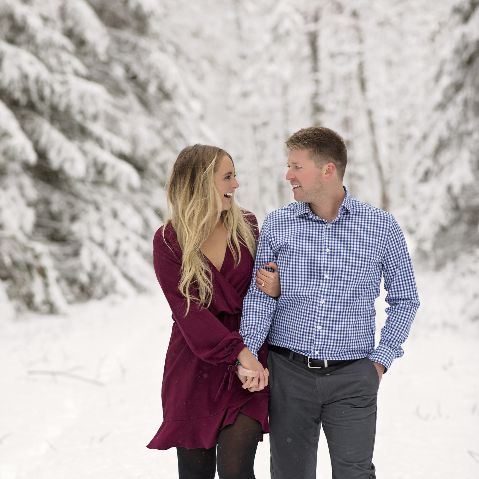 Winter Engagement Michigan Wedding Photographer
