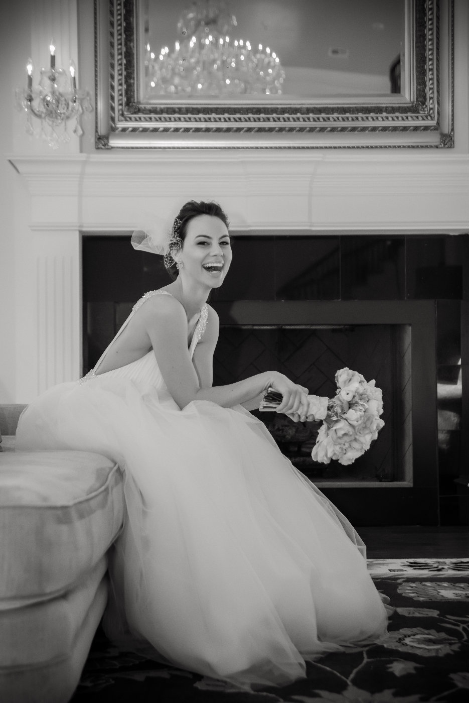 The Milestone bride laughing by Brittany Barclay Photography