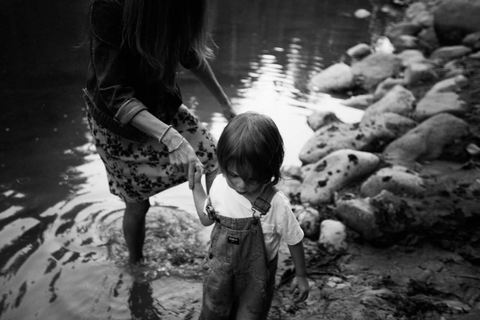 photograph of a little boy leading his mom rooted and wild photography