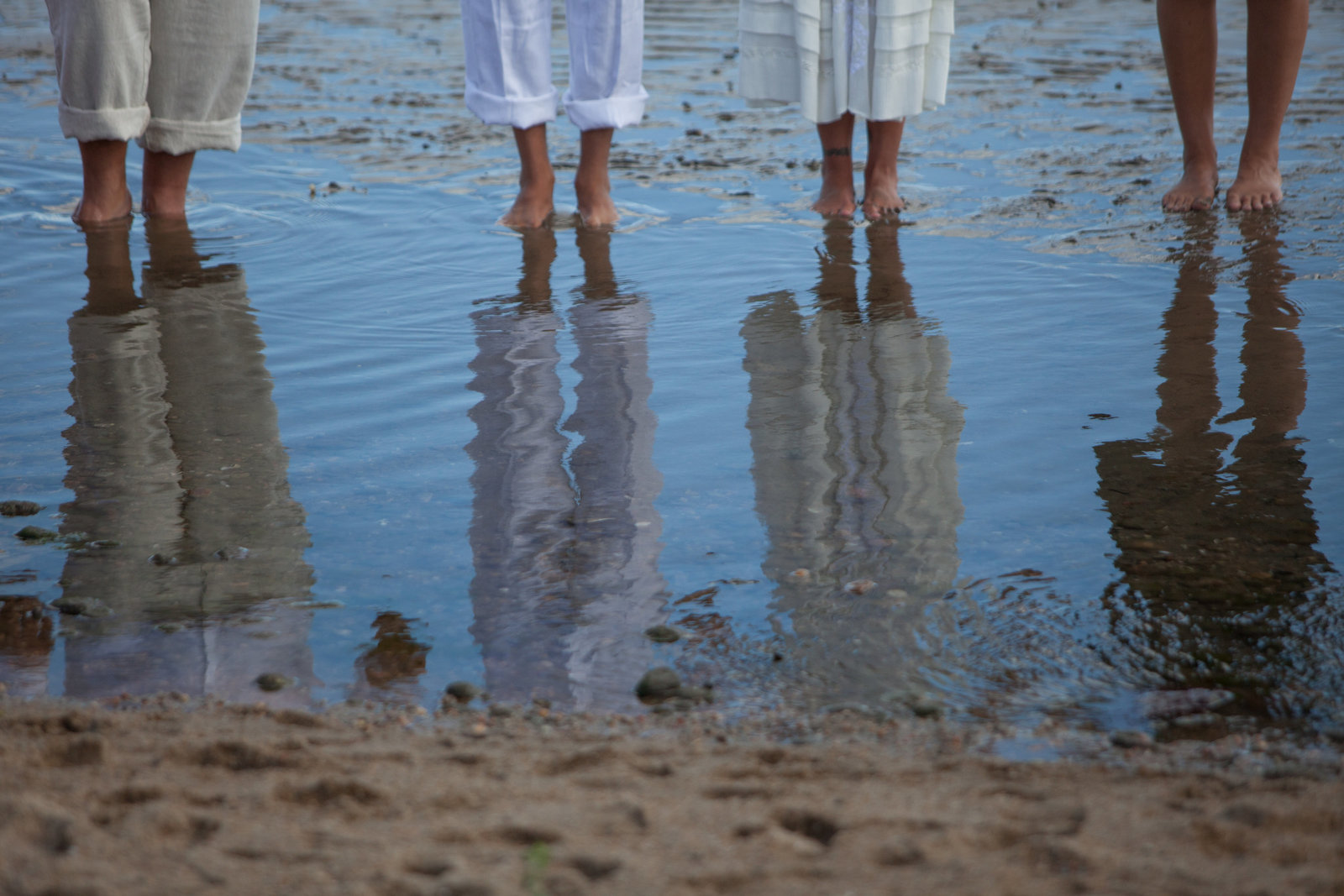 wedding ceremony reflection at beach