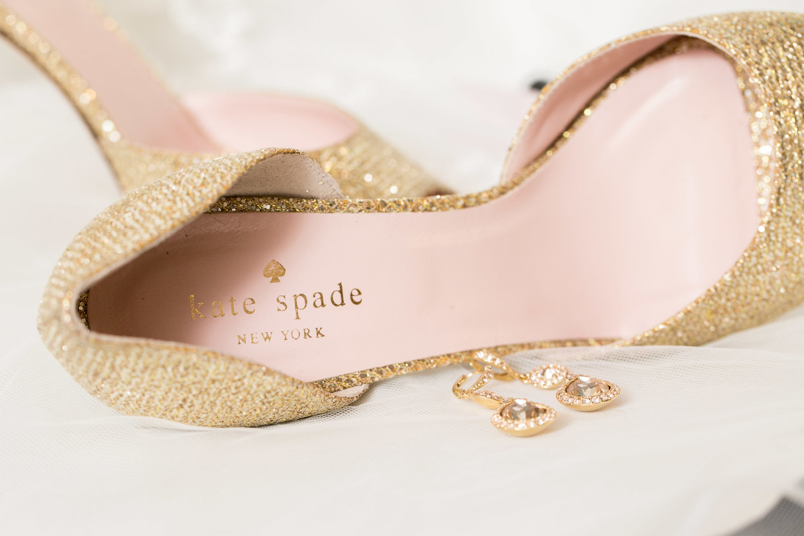 sparkly gold kate spade wedding shoes heels