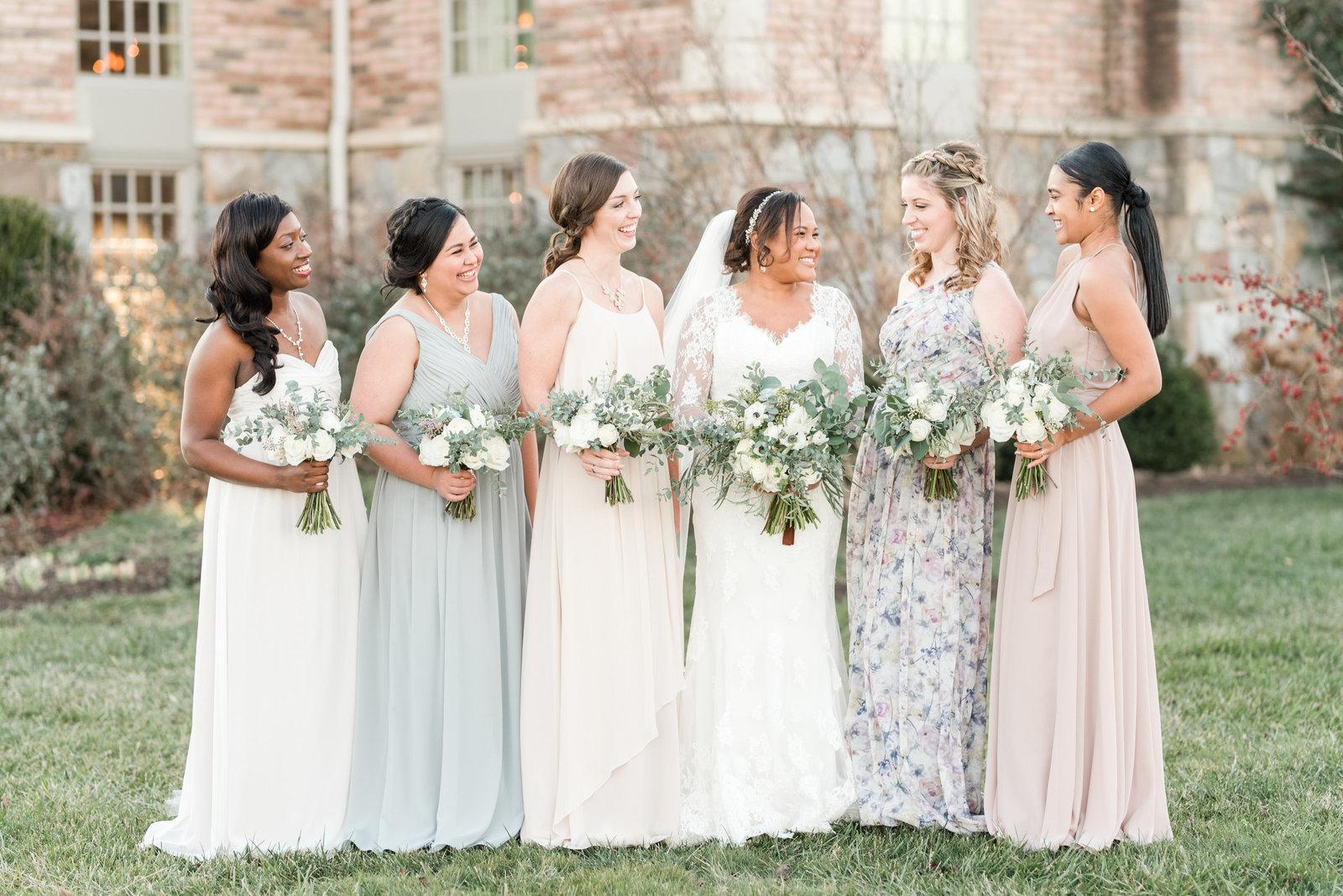Charlottesville Va Wedding Pastel Bridesmaids Dresses By Virginia