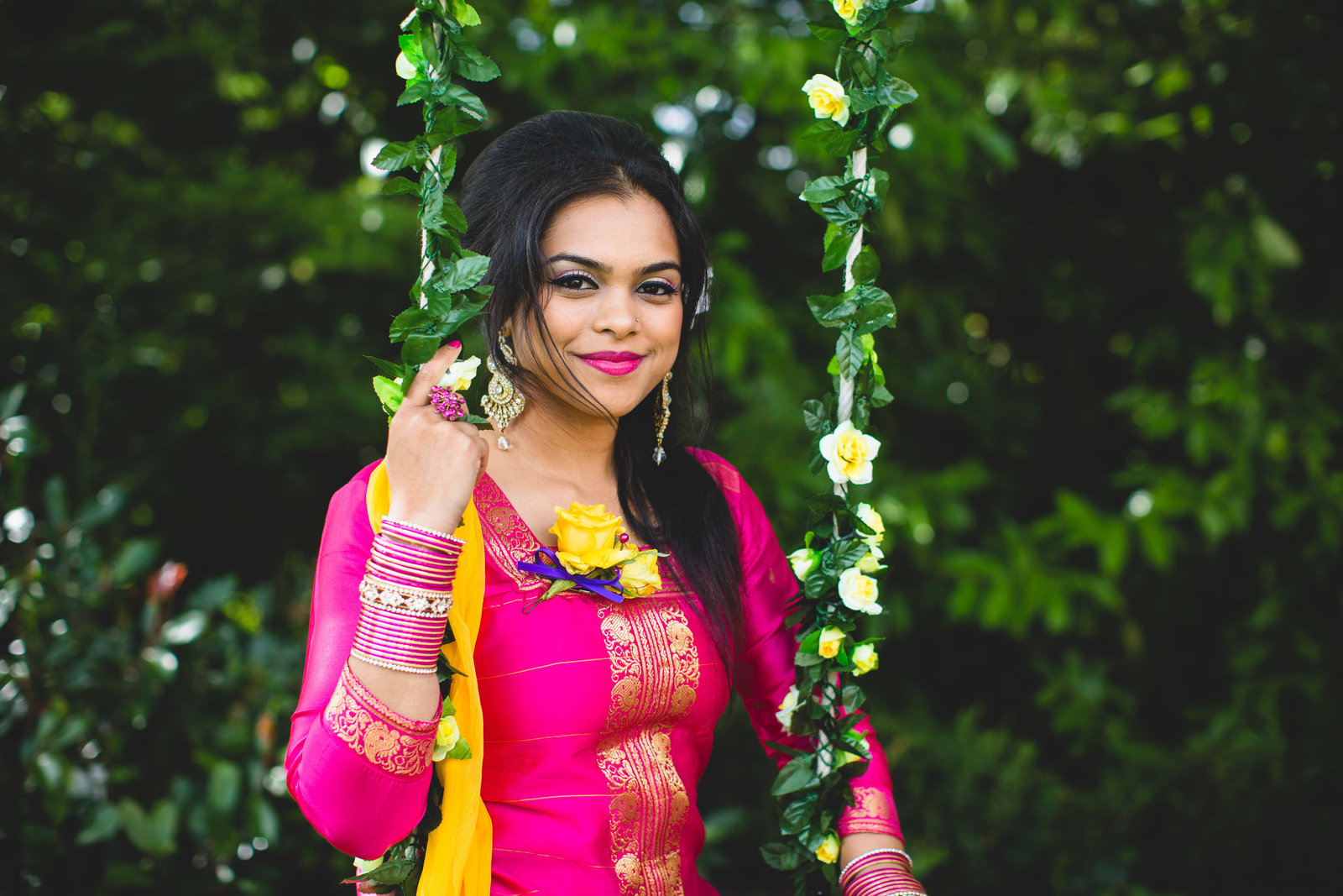 indian wedding portrait swing