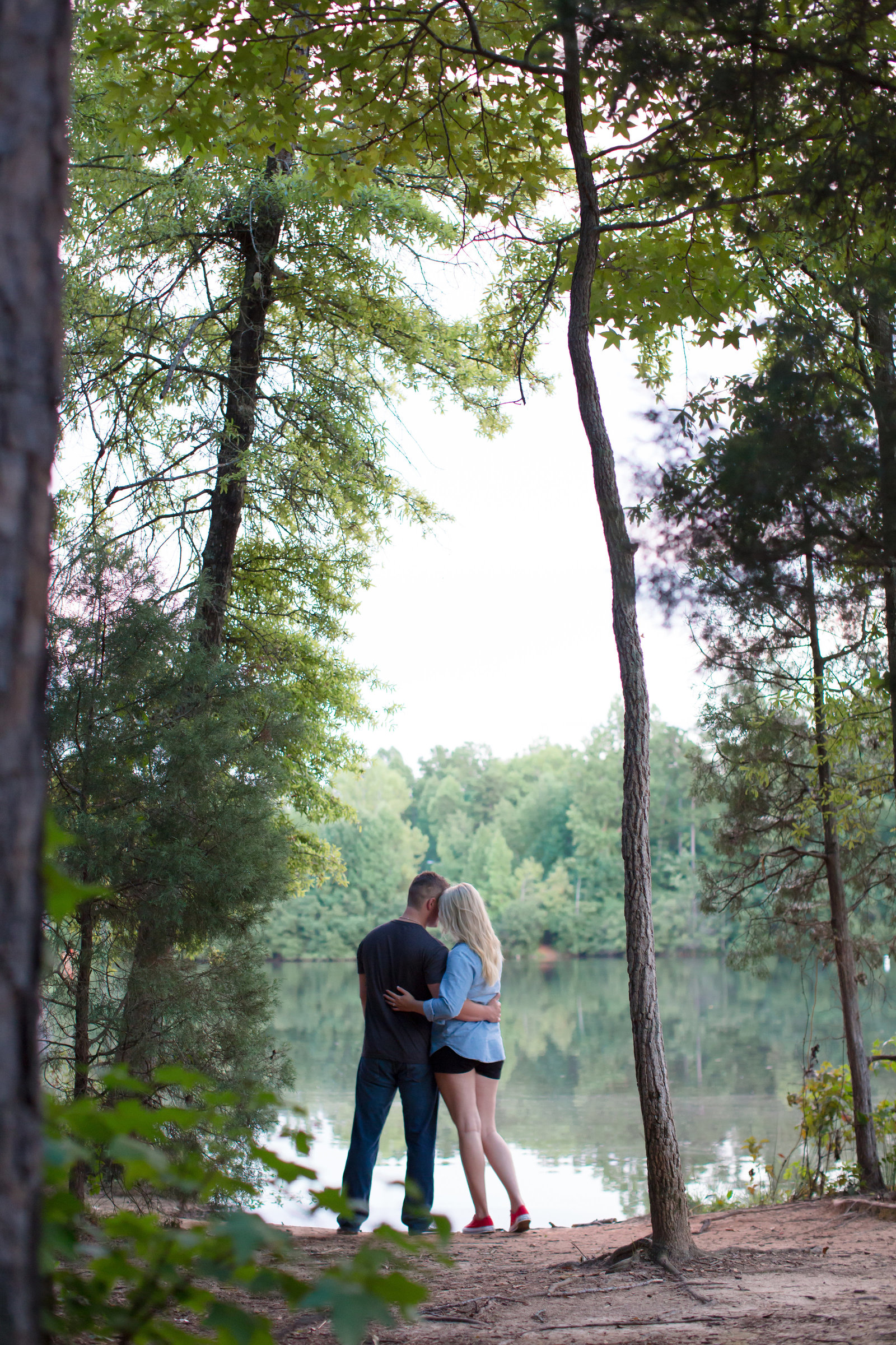 engagement in the woods