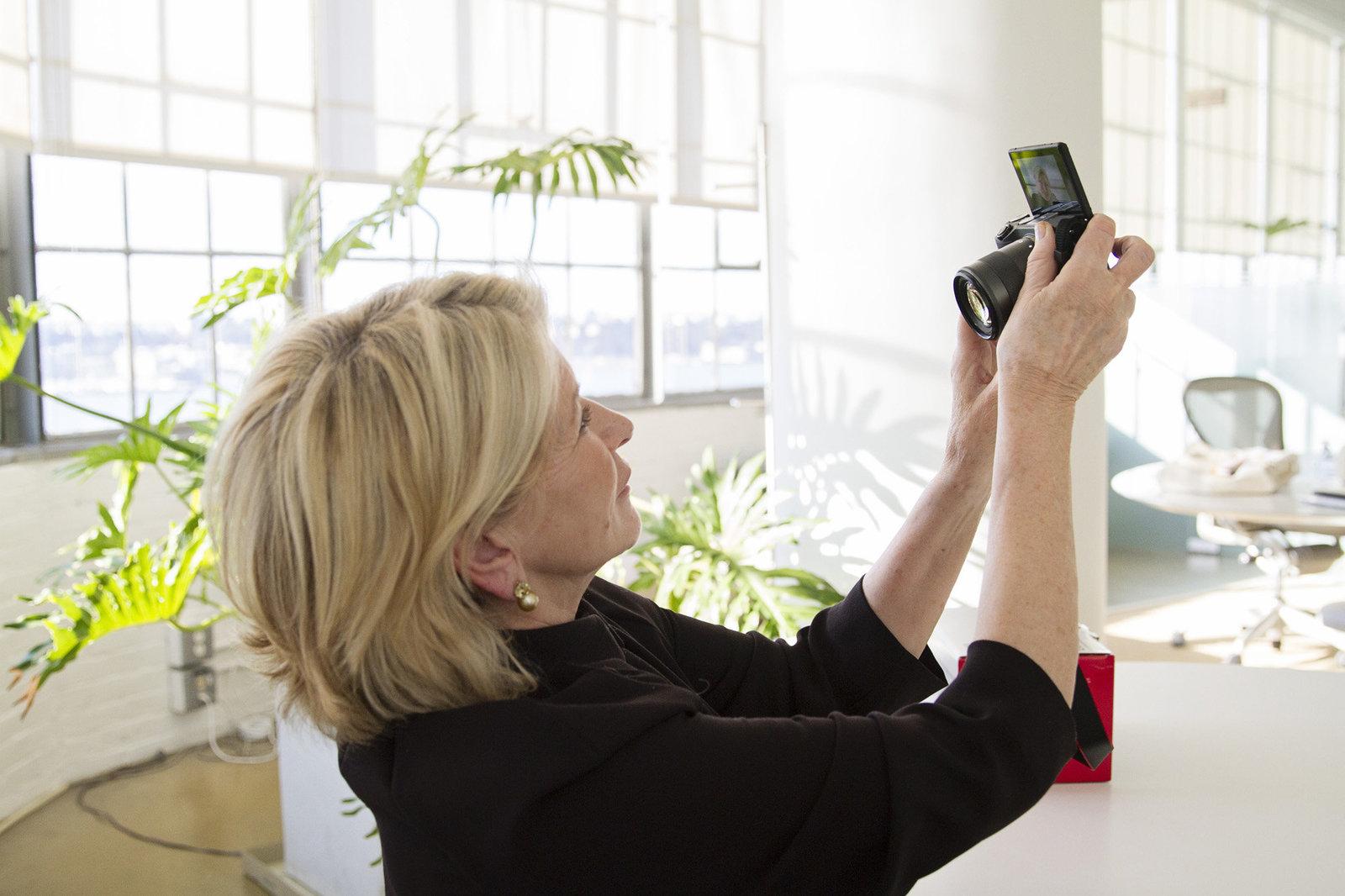 Martha Stewart Taking a Selfie