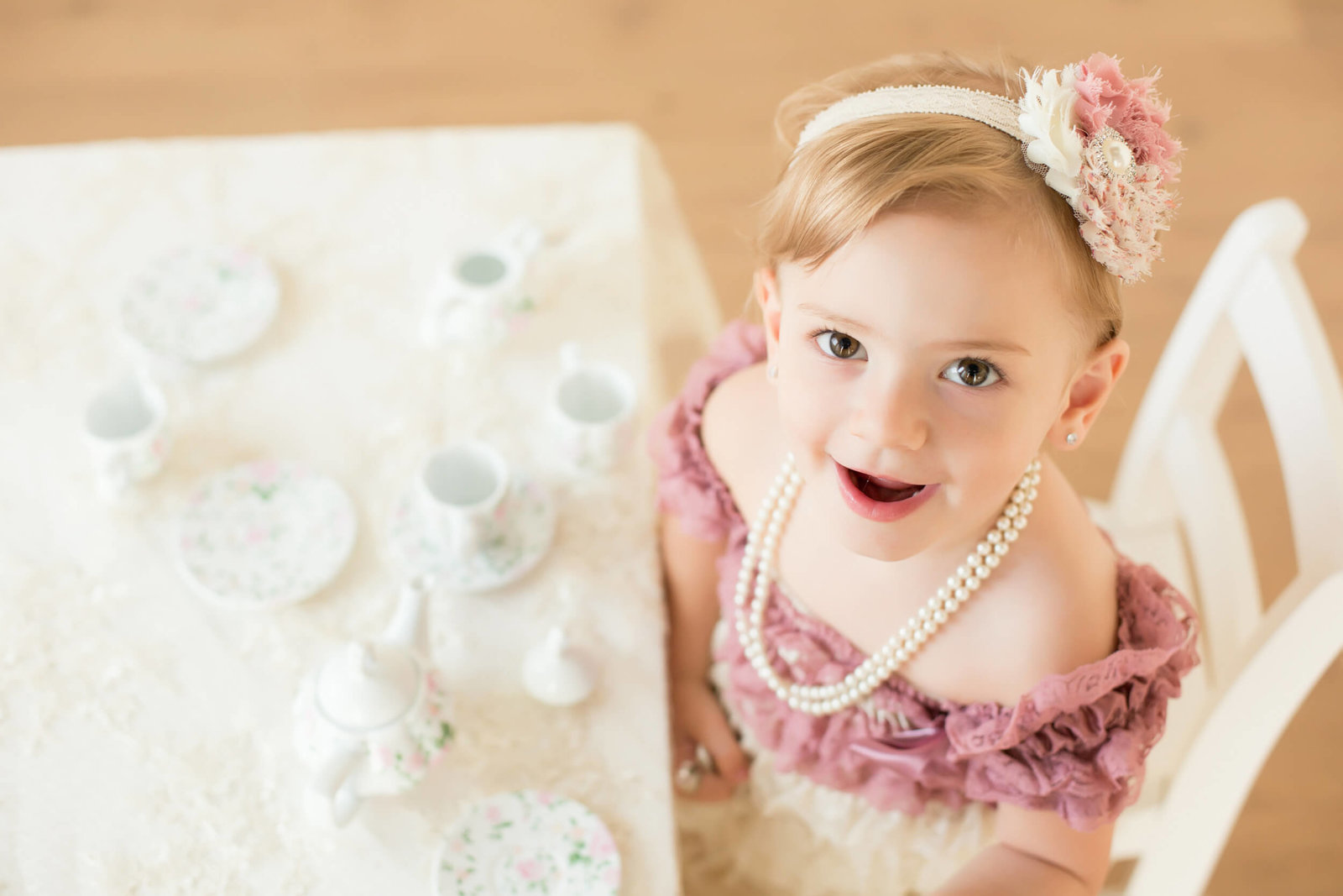 tea party themed girls photoshoot